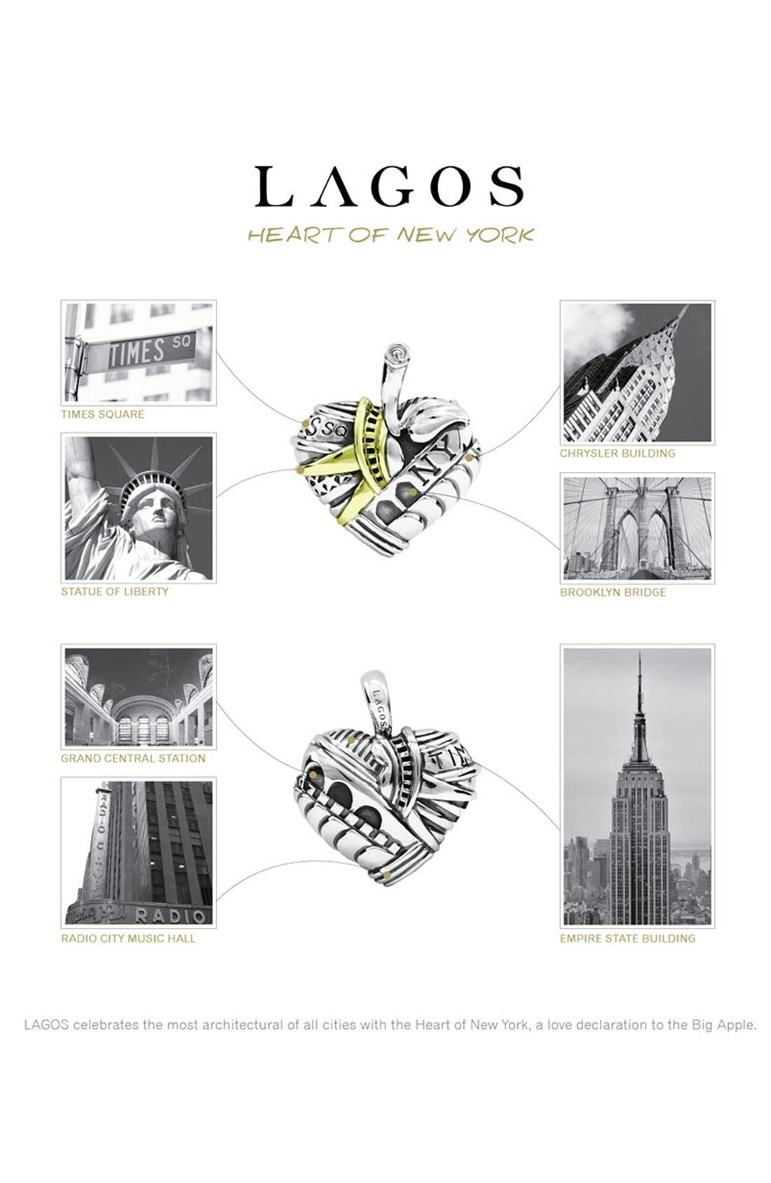 'Hearts of LAGOS - New York' Reversible Pendant Necklace,                             Alternate thumbnail 5, color,                             Heart Of New York