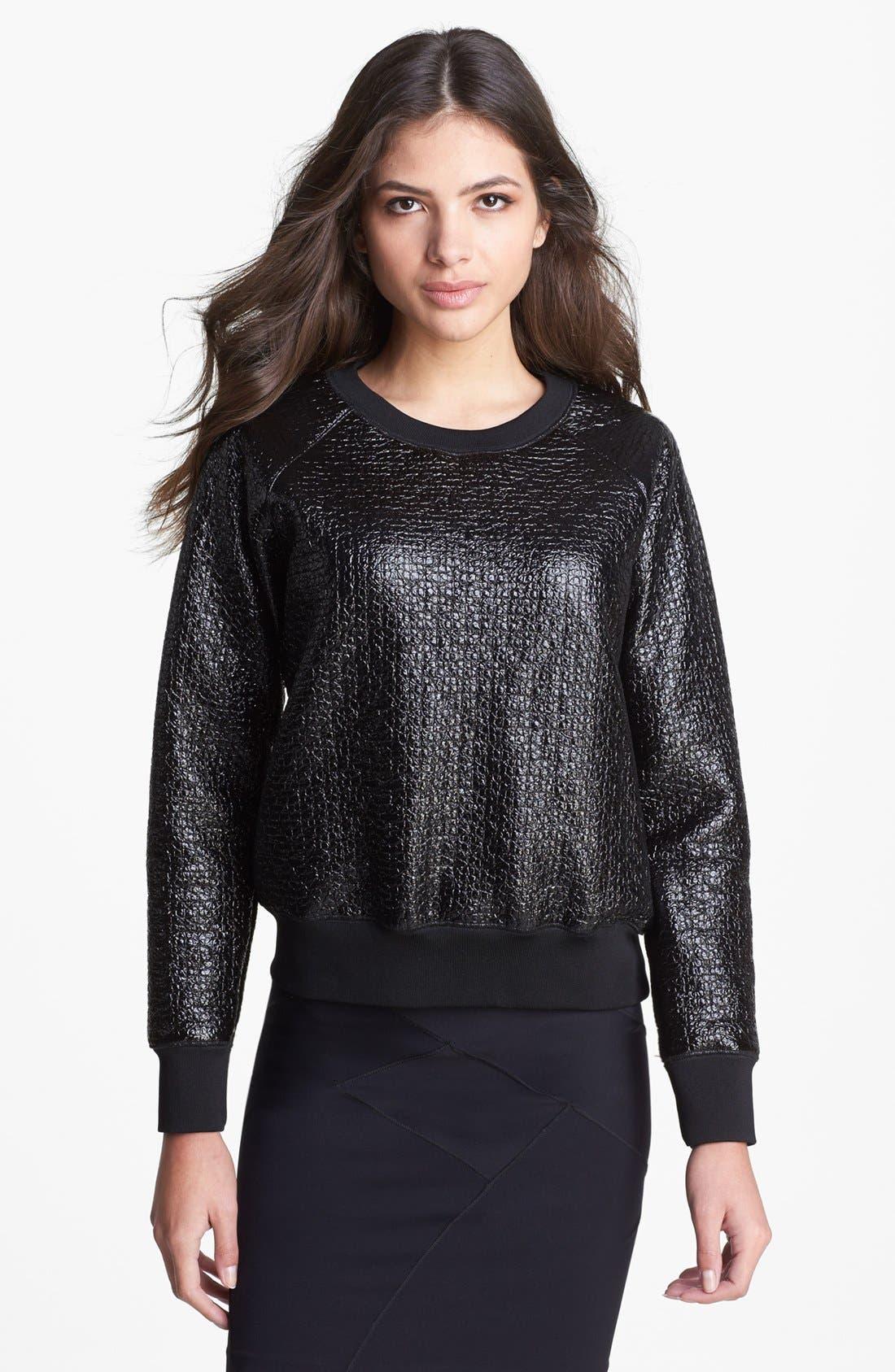 Main Image - Theory 'Incline B.' Laminated Sweater