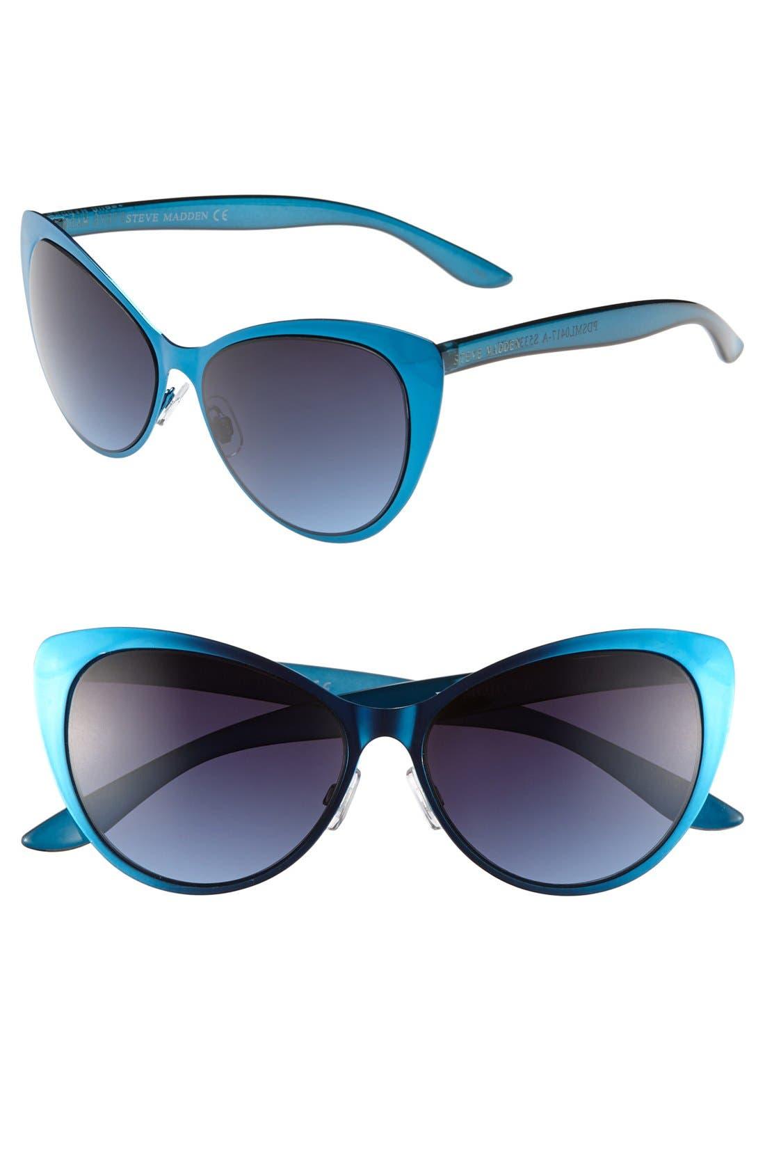 Alternate Image 1 Selected - Steve Madden 'Extreme' 65mm Cat Eye Sunglasses