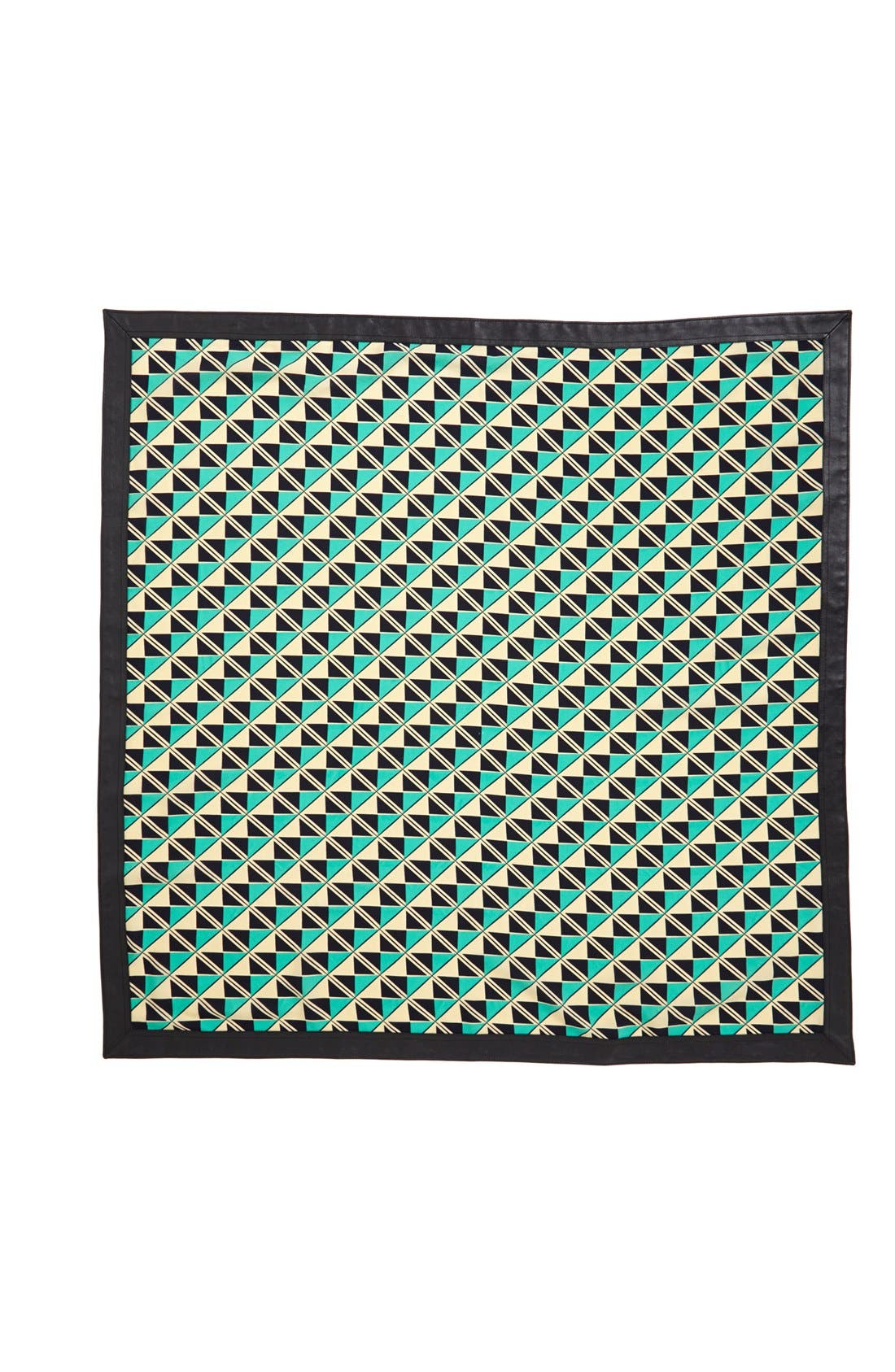 Alternate Image 2  - Halogen® Graphic Print Scarf with Faux Leather Trim
