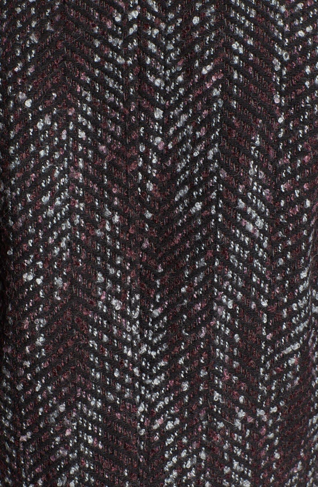 Alternate Image 3  - Hinge Faux Leather Trim Tweed Jacket
