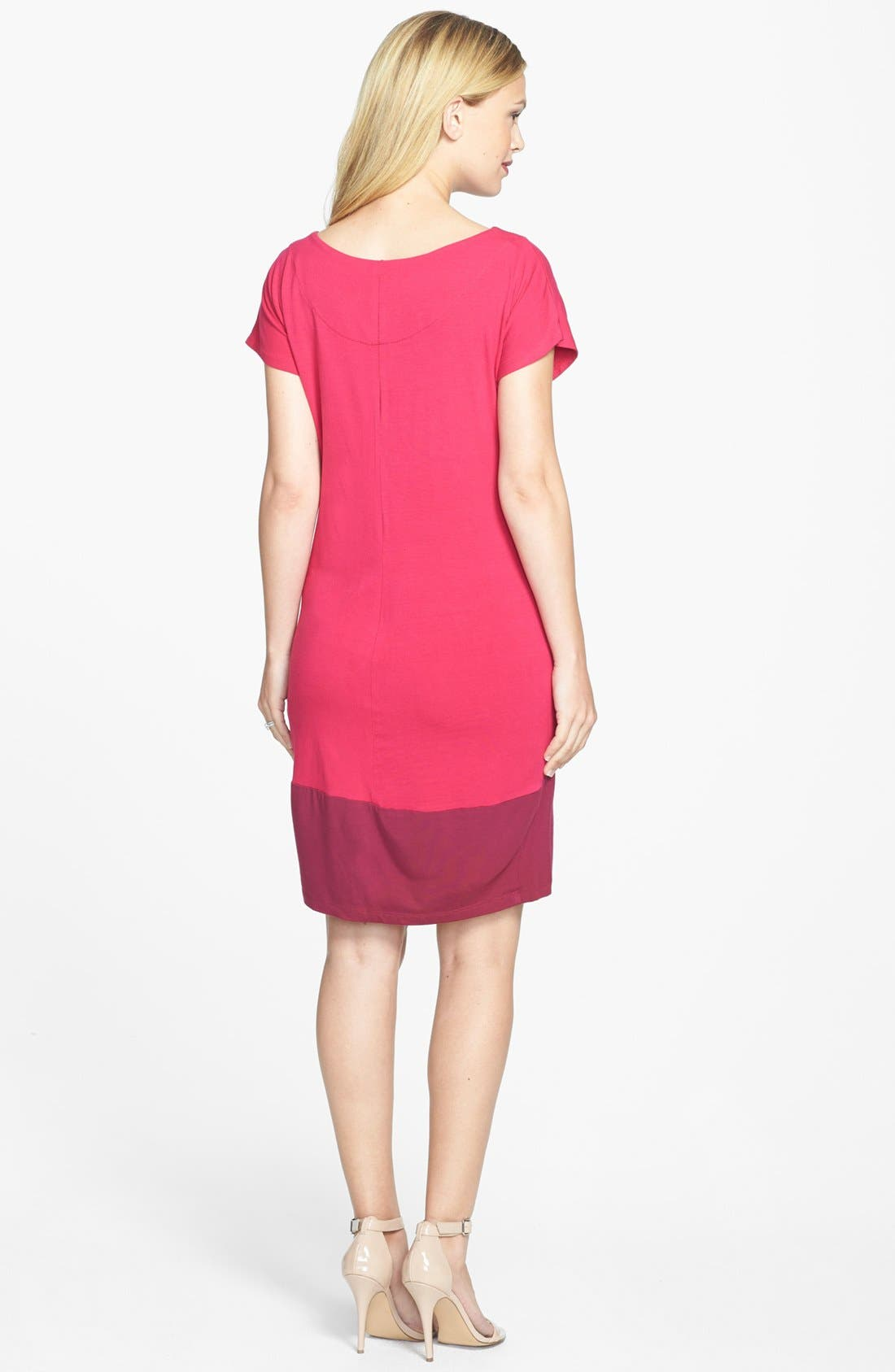 Alternate Image 2  - Japanese Weekend Colorblock Maternity/Nursing Dress