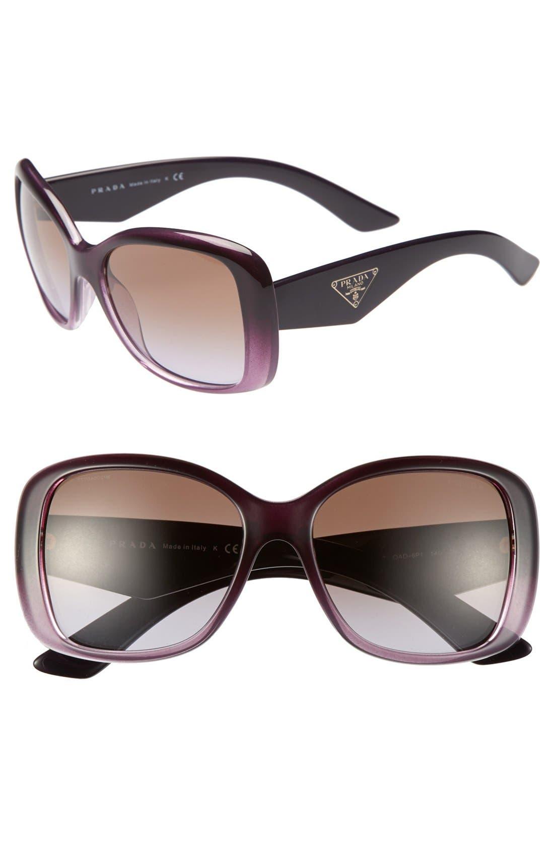 Main Image - Prada 57mm Oversized Sunglasses