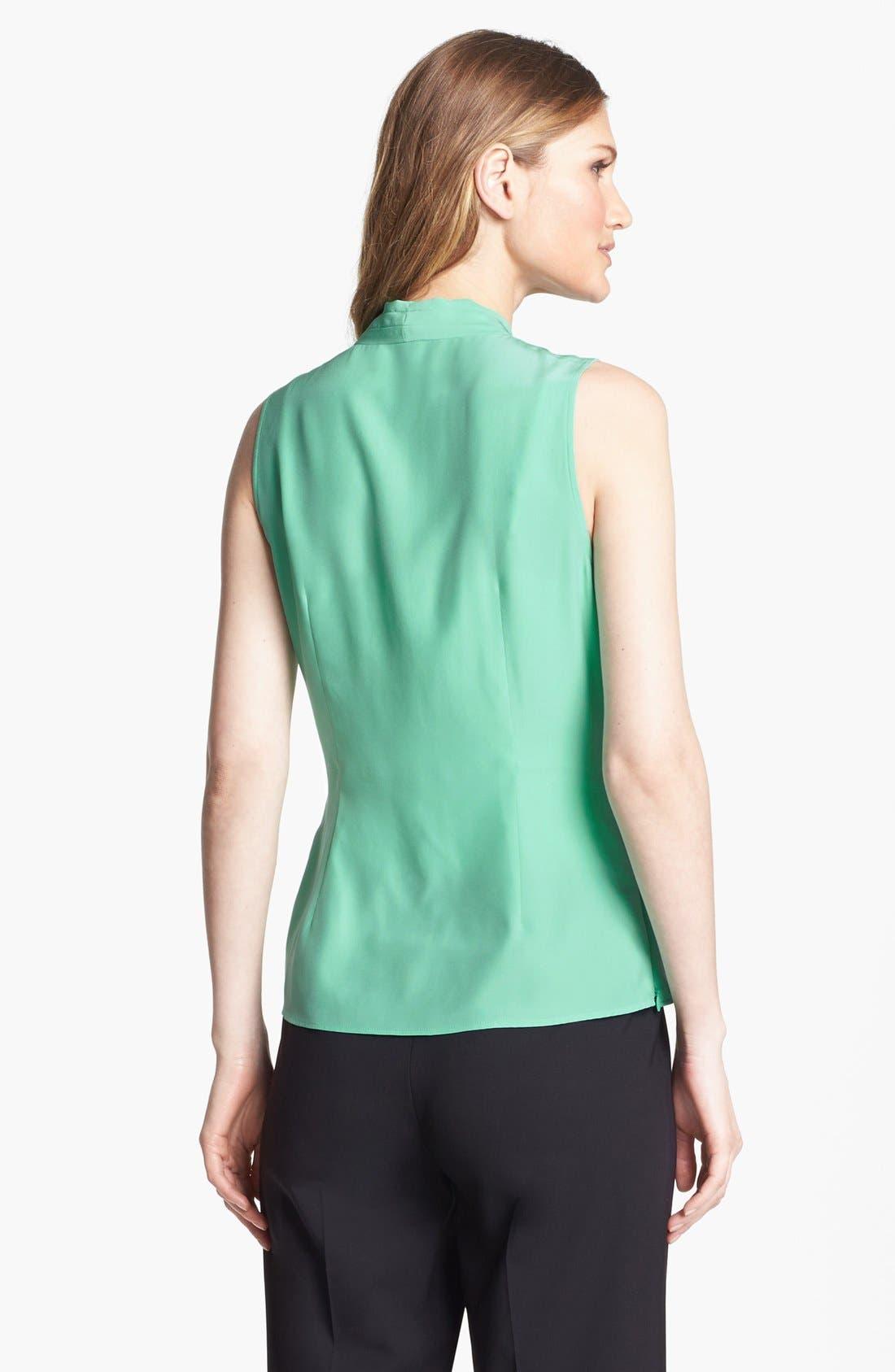 Alternate Image 2  - Lafayette 148 New York 'Syrena' Sleeveless Silk Blouse