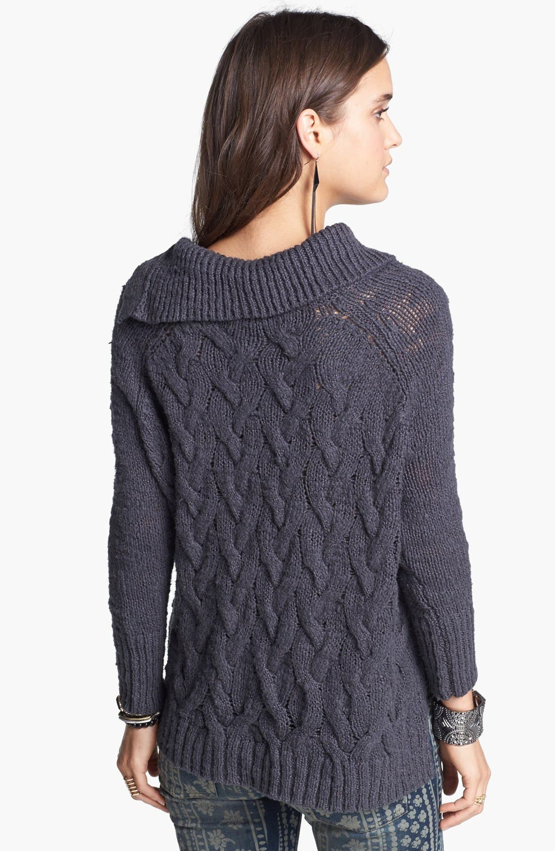 Alternate Image 2  - Free People 'Berkeley' Cable Knit Sweater