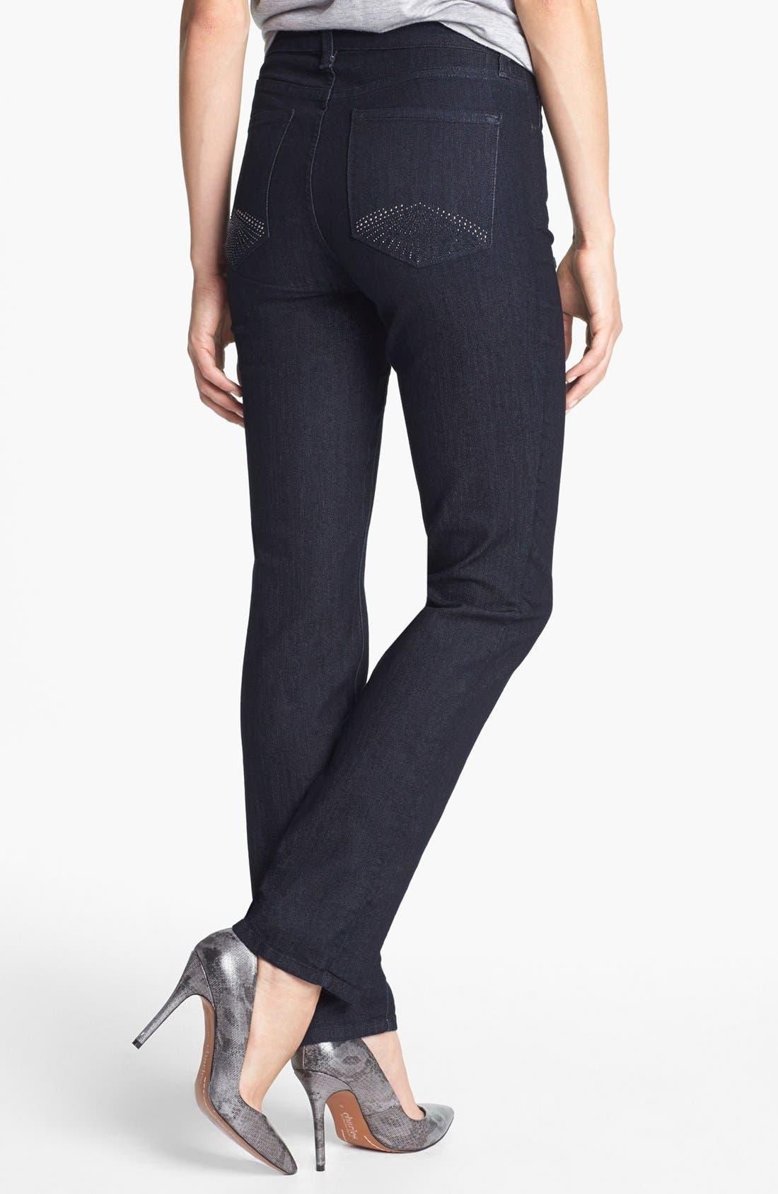 Alternate Image 2  - NYDJ 'Sheri' Stretch Skinny Jeans (Petite)