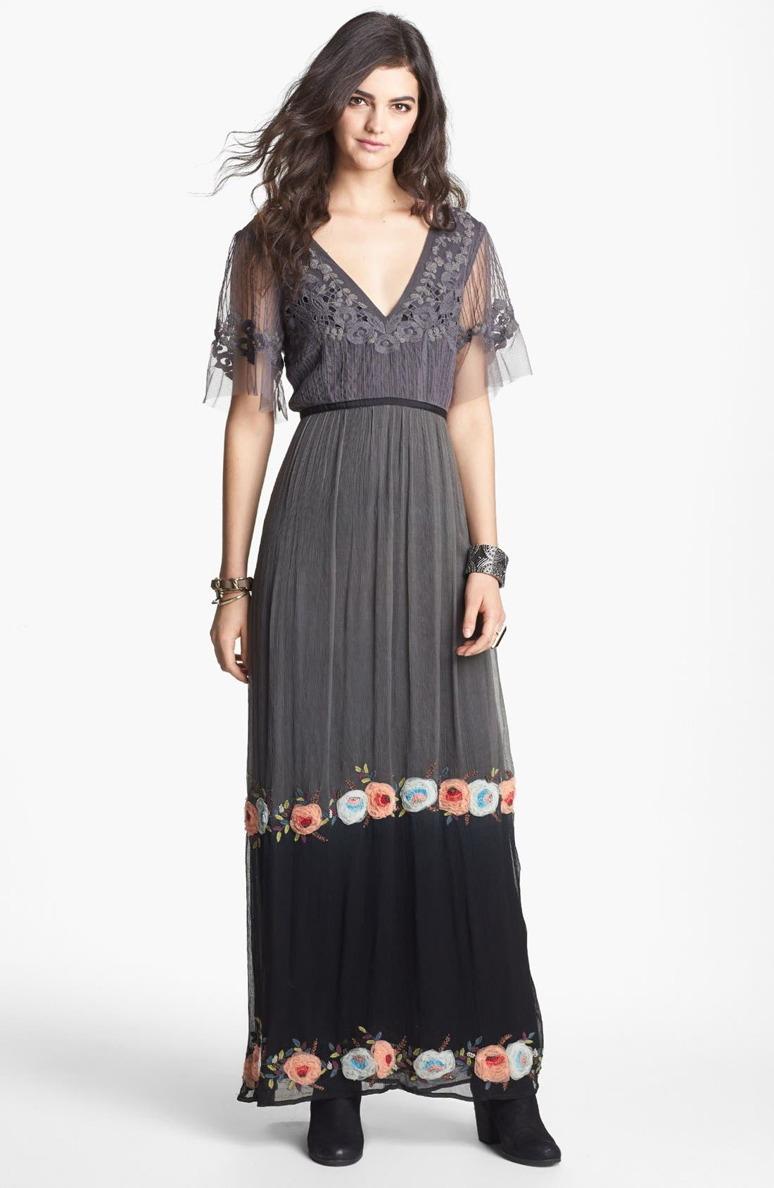 Main Image - Free People 'Midnight in the Garden' Maxi Dress