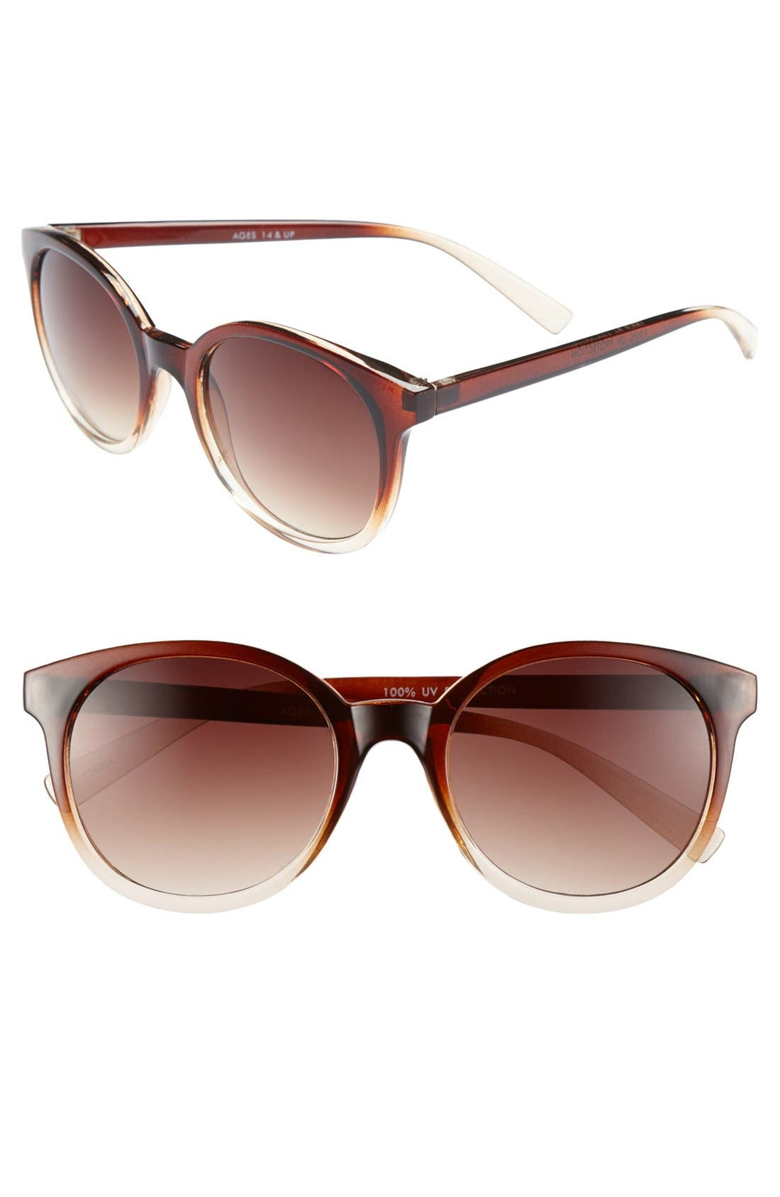 Alternate Image 1 Selected - Fantas Eyes Ombré Frame Sunglasses (Juniors) (Online Only)