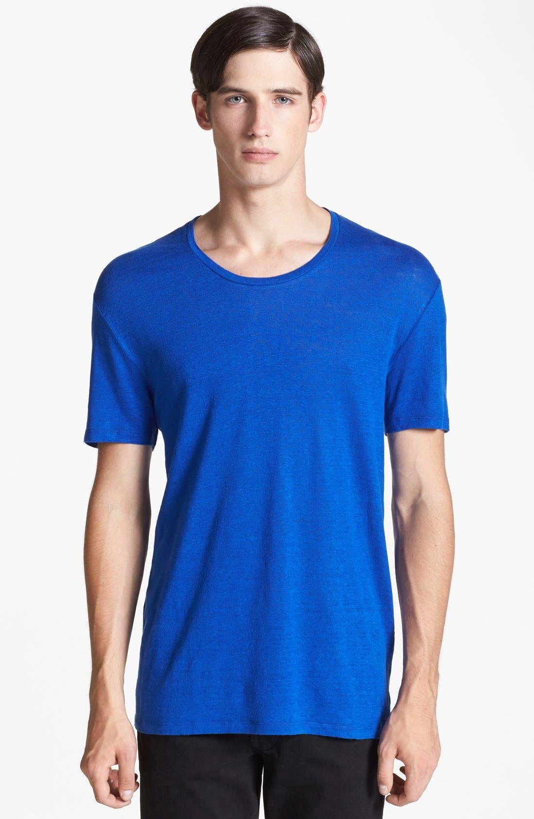 Main Image - sandro 'Clash' Linen T-Shirt