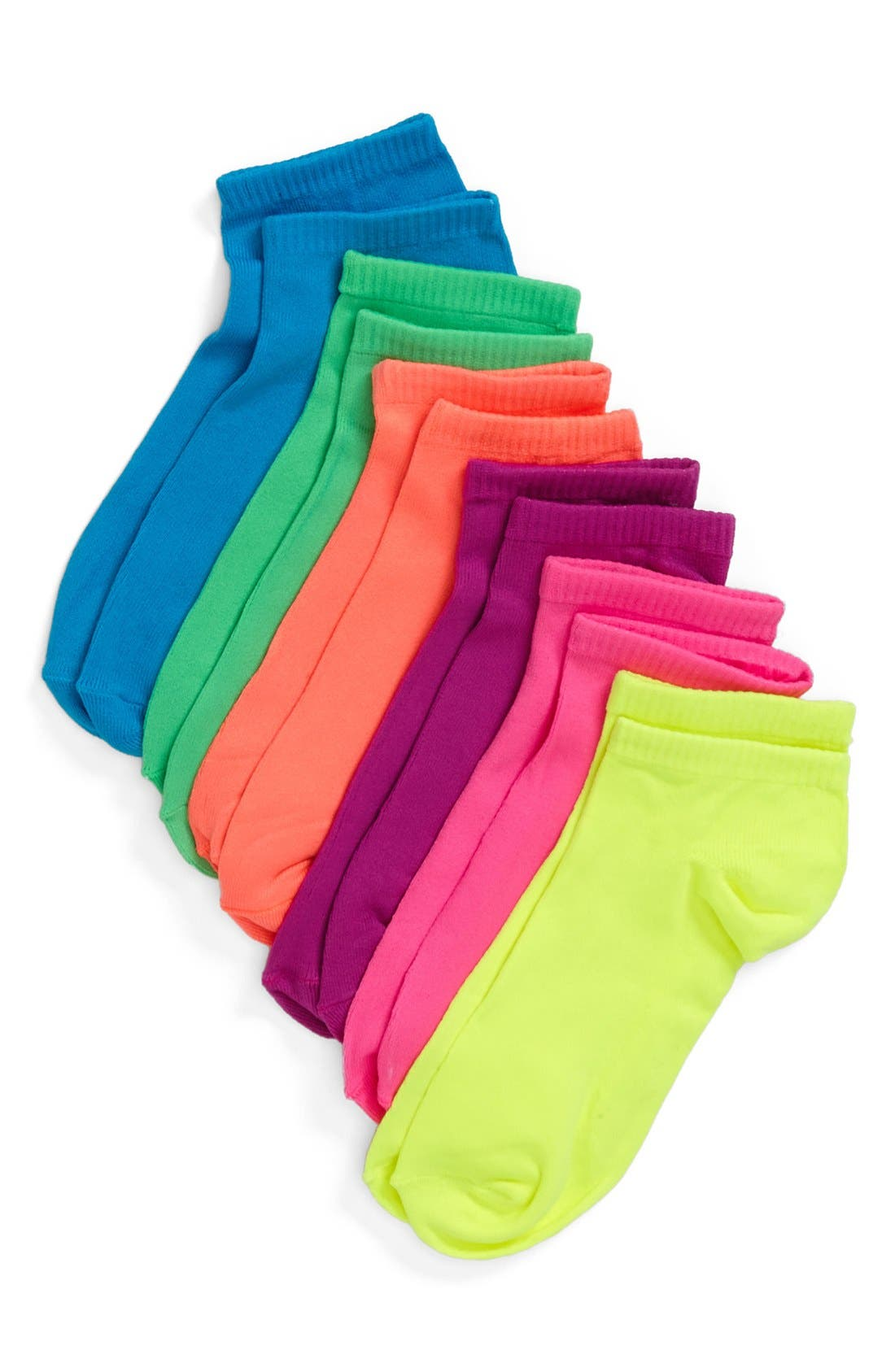 Alternate Image 1 Selected - Sox & Co. Microfiber No-Show Socks (6-Pack) (Women)
