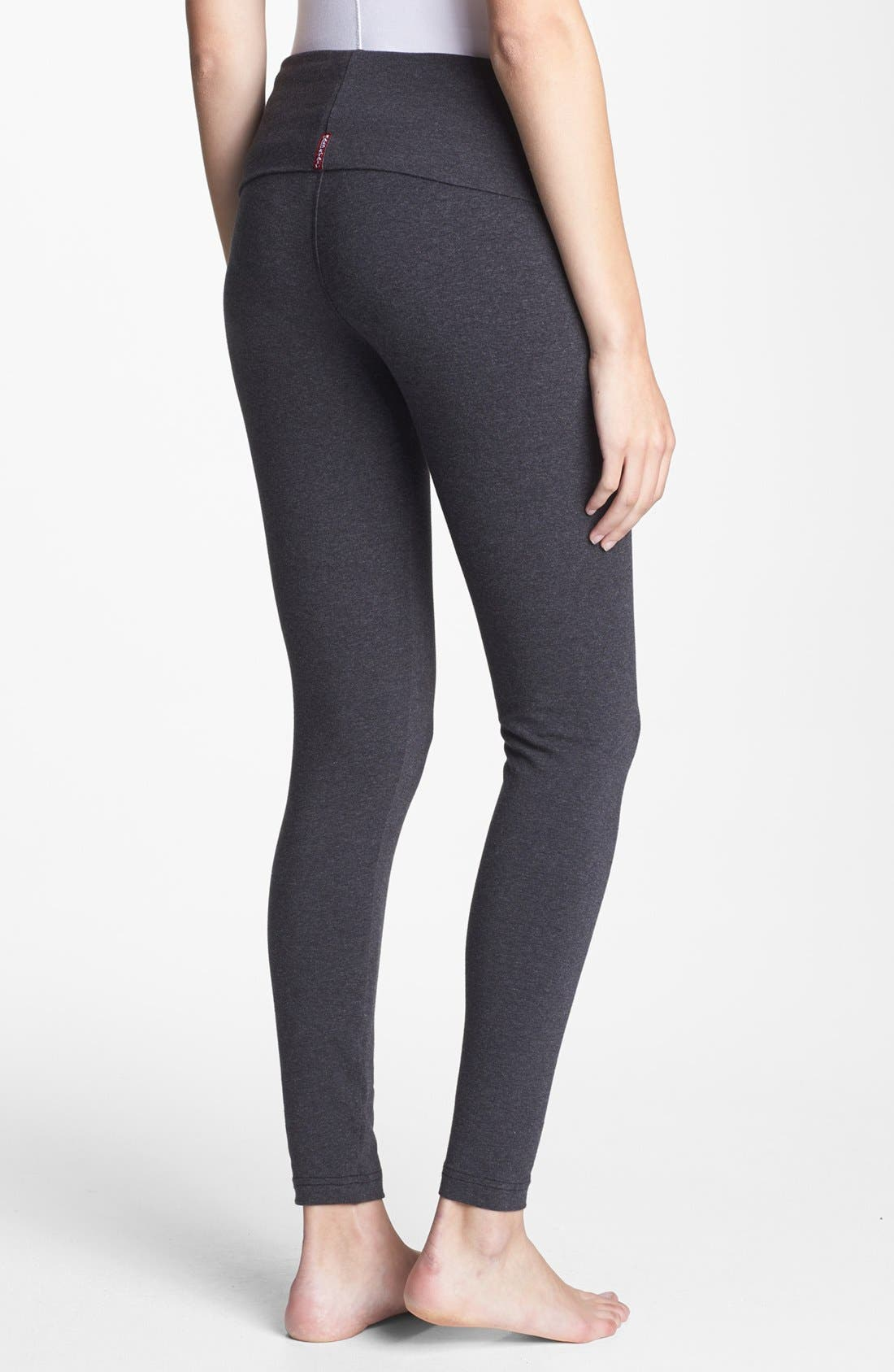 Alternate Image 2  - Hard Tail Roll Waist Maternity Leggings