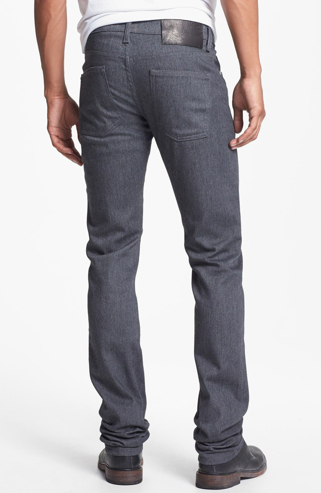 Alternate Image 1 Selected - Naked & Famous Denim 'Skinny Guy' Skinny Fit Jeans (Heather Grey Stretch)