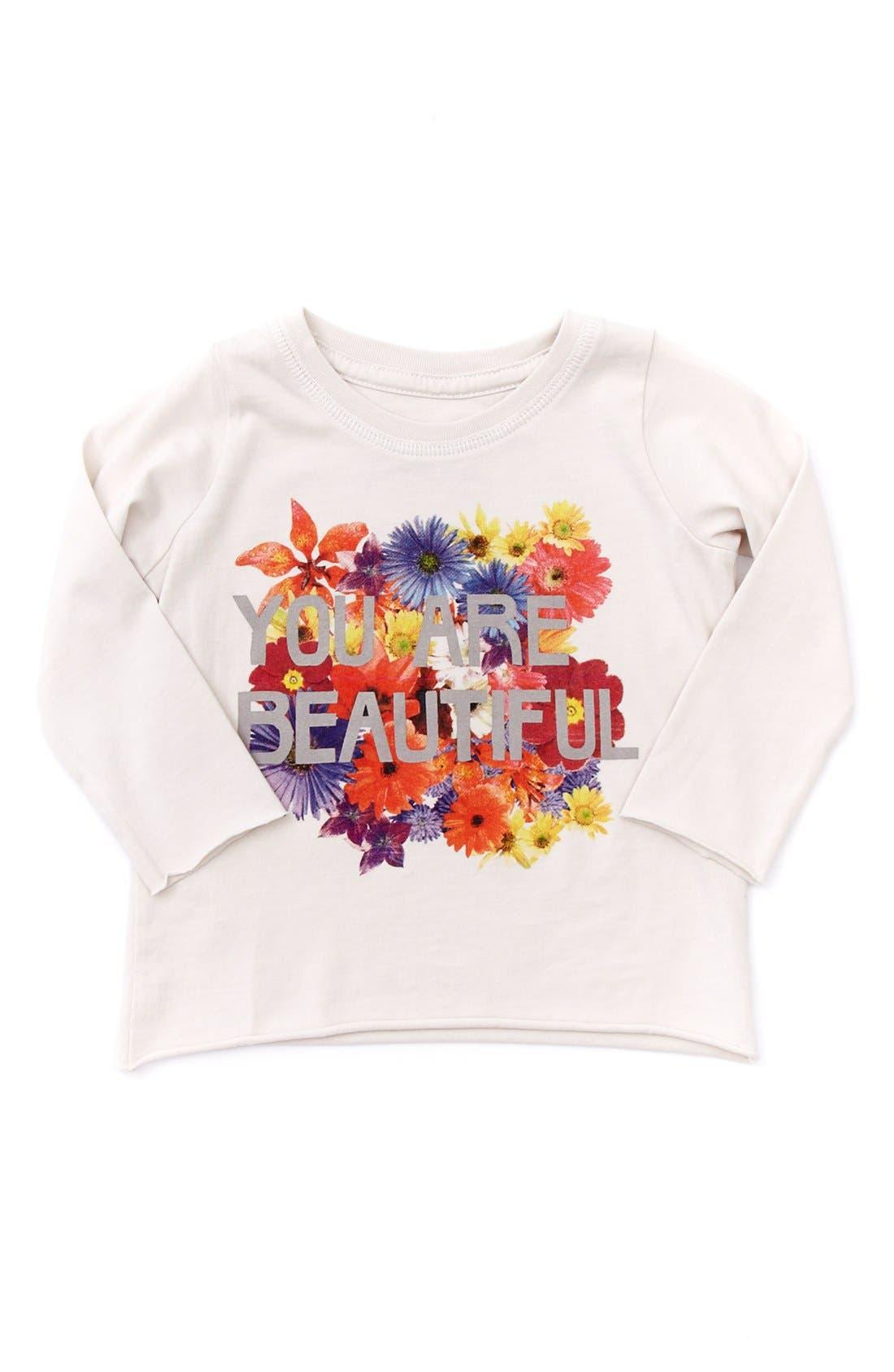 Alternate Image 1 Selected - Peek 'You Are Beautiful' Tee (Baby Girls)