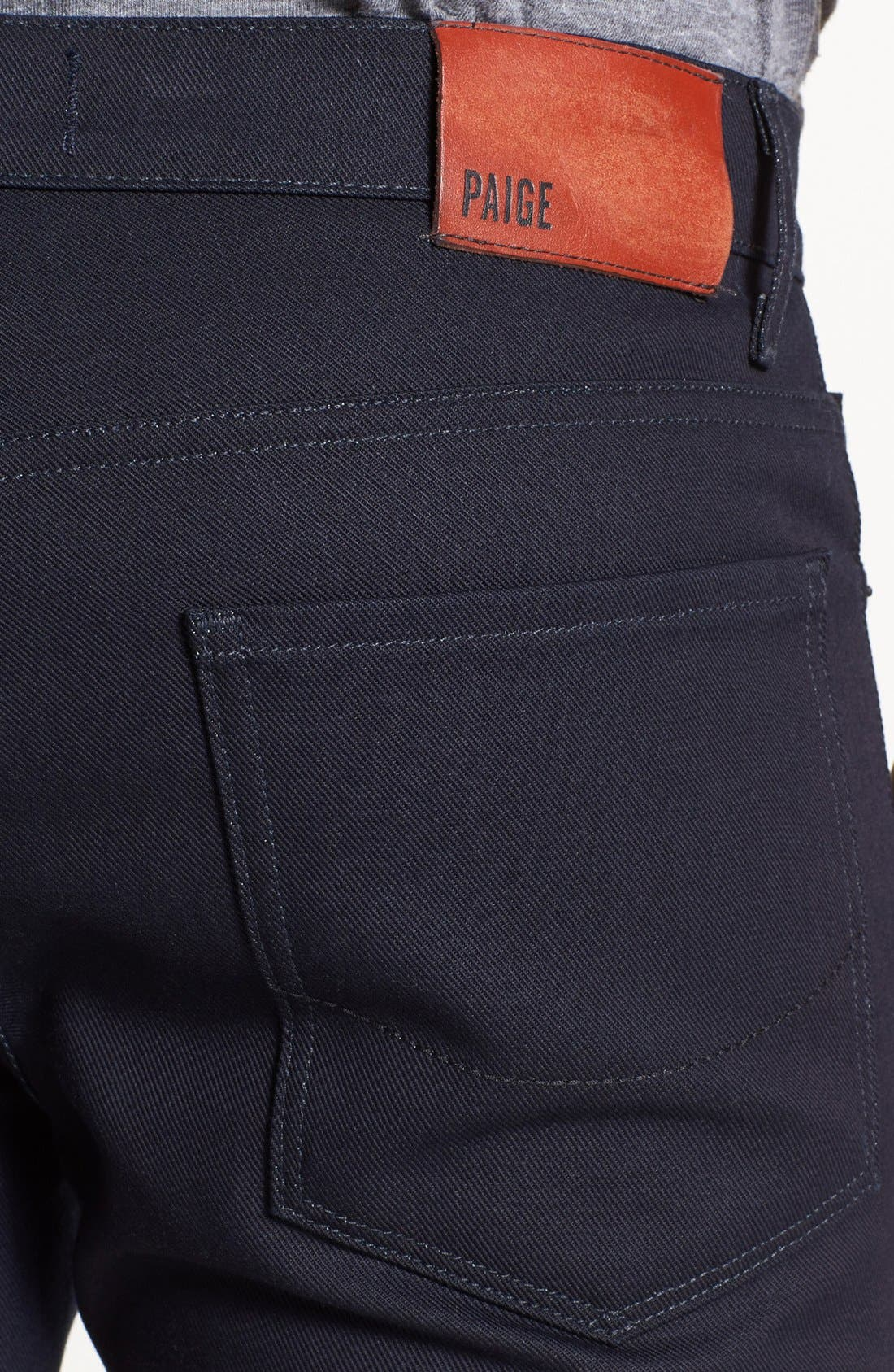 Alternate Image 4  - PAIGE 'Federal' Skinny Fit Selvedge Jeans (Eco Raw)