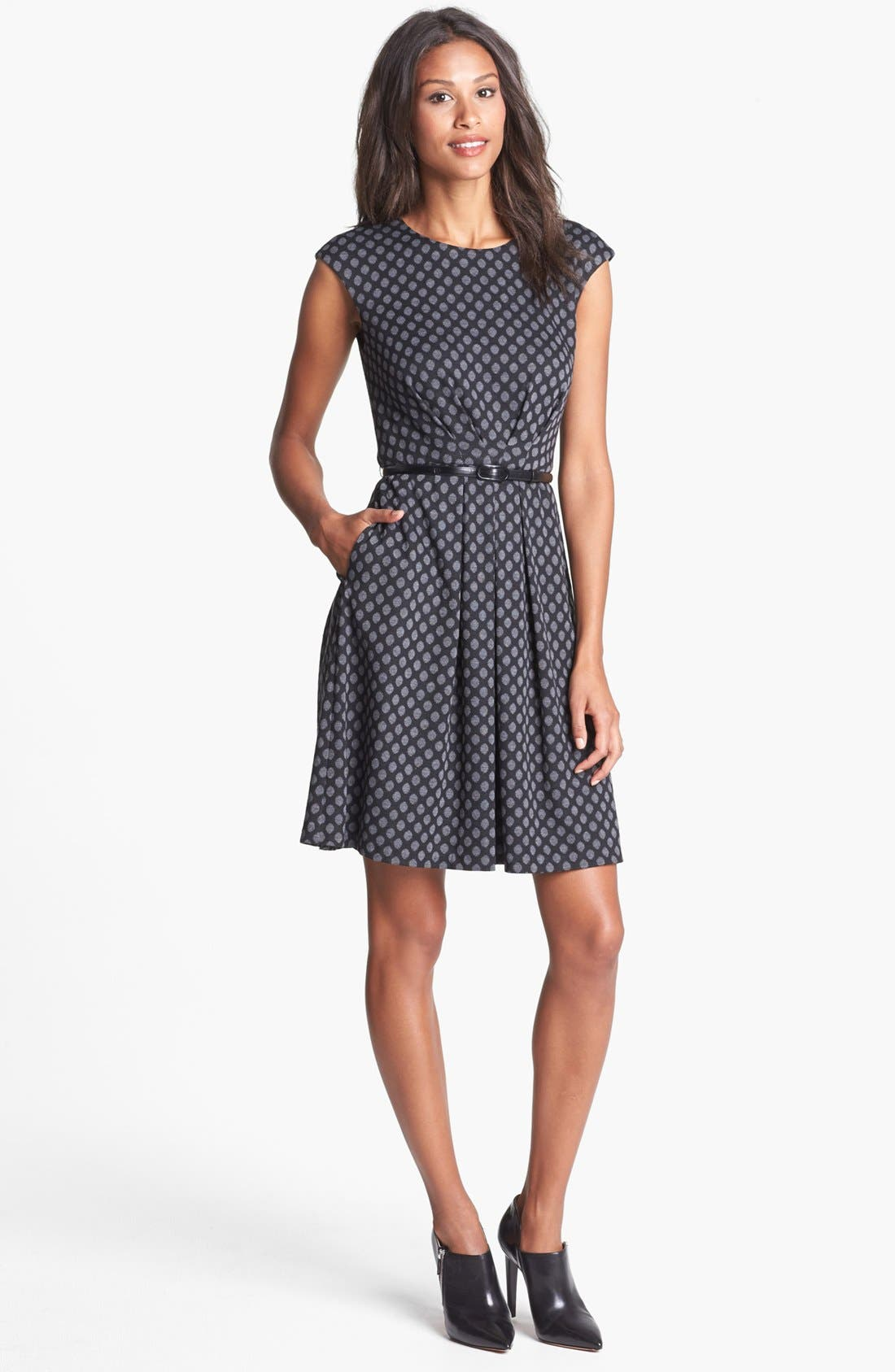 Alternate Image 1 Selected - Maggy London Jacquard Ponte Fit & Flare Dress