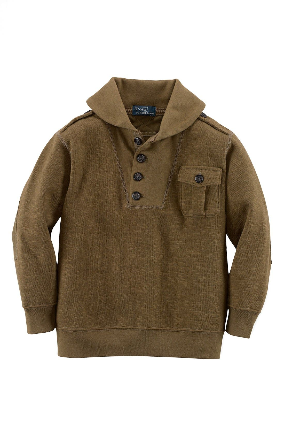 Alternate Image 1 Selected - Ralph Lauren Shawl Collar Pullover (Toddler Boys)