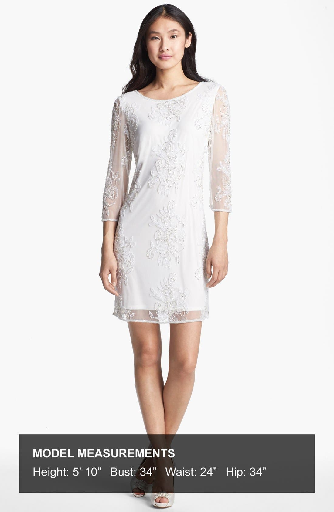 Alternate Image 4  - Pisarro Nights Embellished Sheer Sleeve Tulle Dress