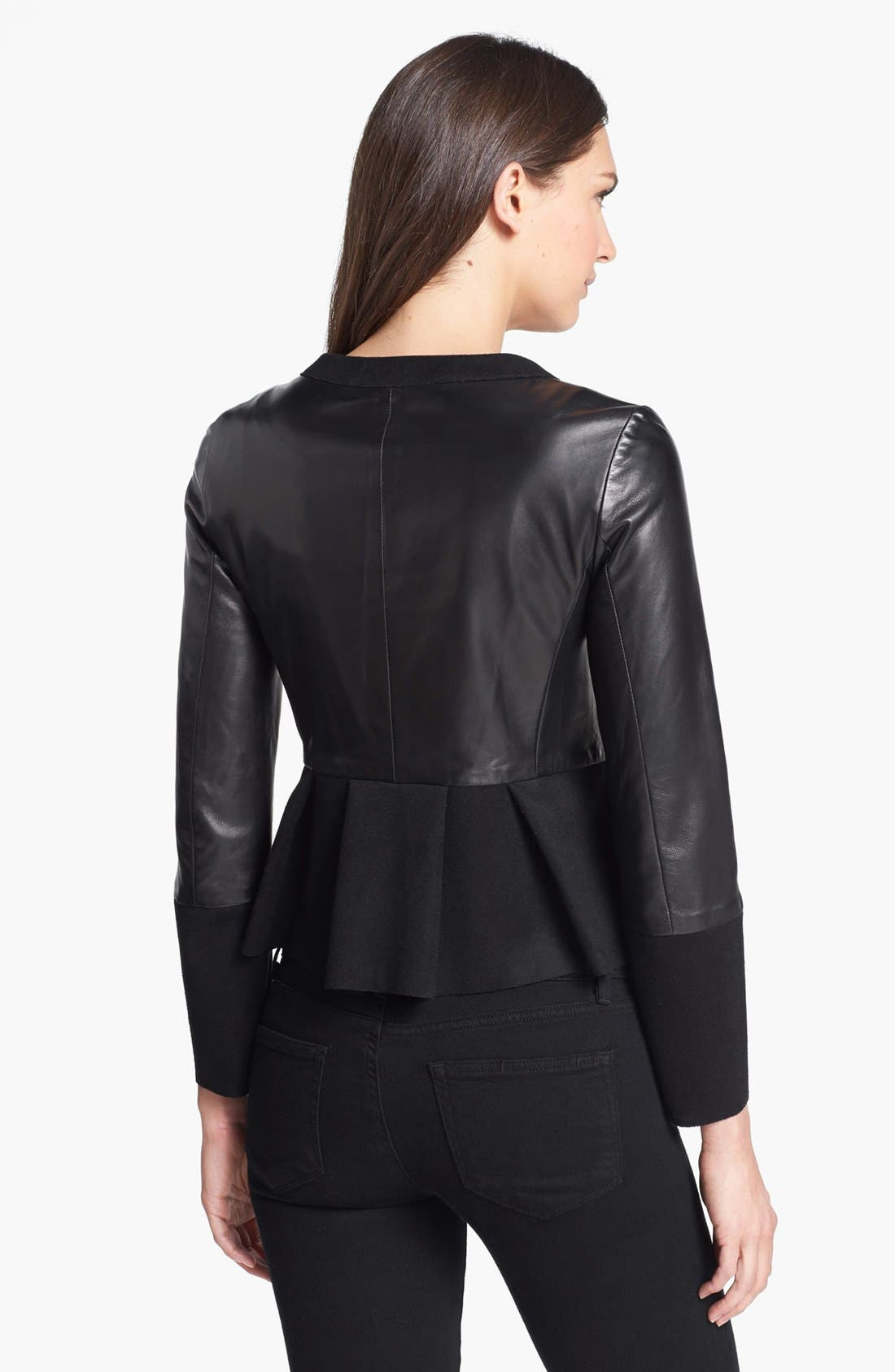Alternate Image 2  - MARC BY MARC JACOBS 'Kent' Leather & Wool Blend Jacket