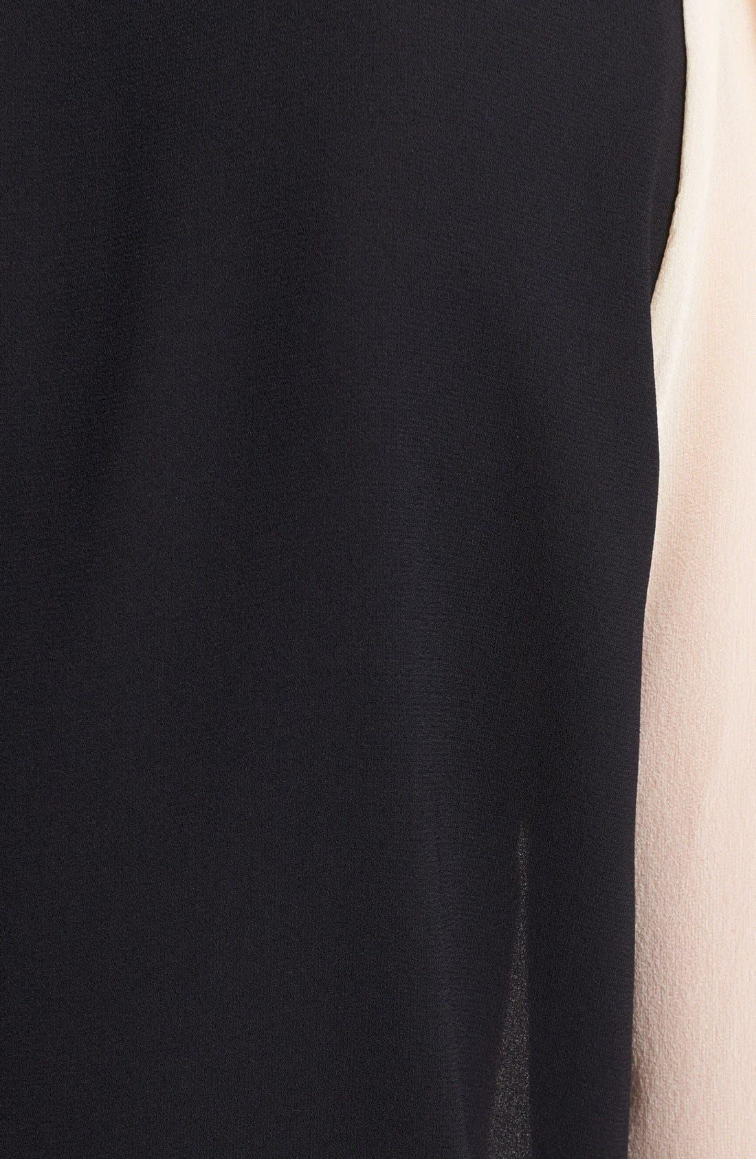 Alternate Image 3  - Diane von Furstenberg 'Etta' Colorblock Silk Blouse