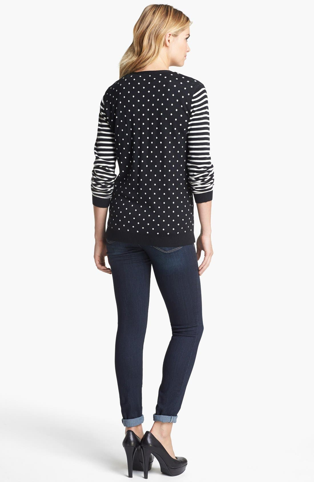 Alternate Image 2  - Two by Vince Camuto Dot & Stripe Cardigan