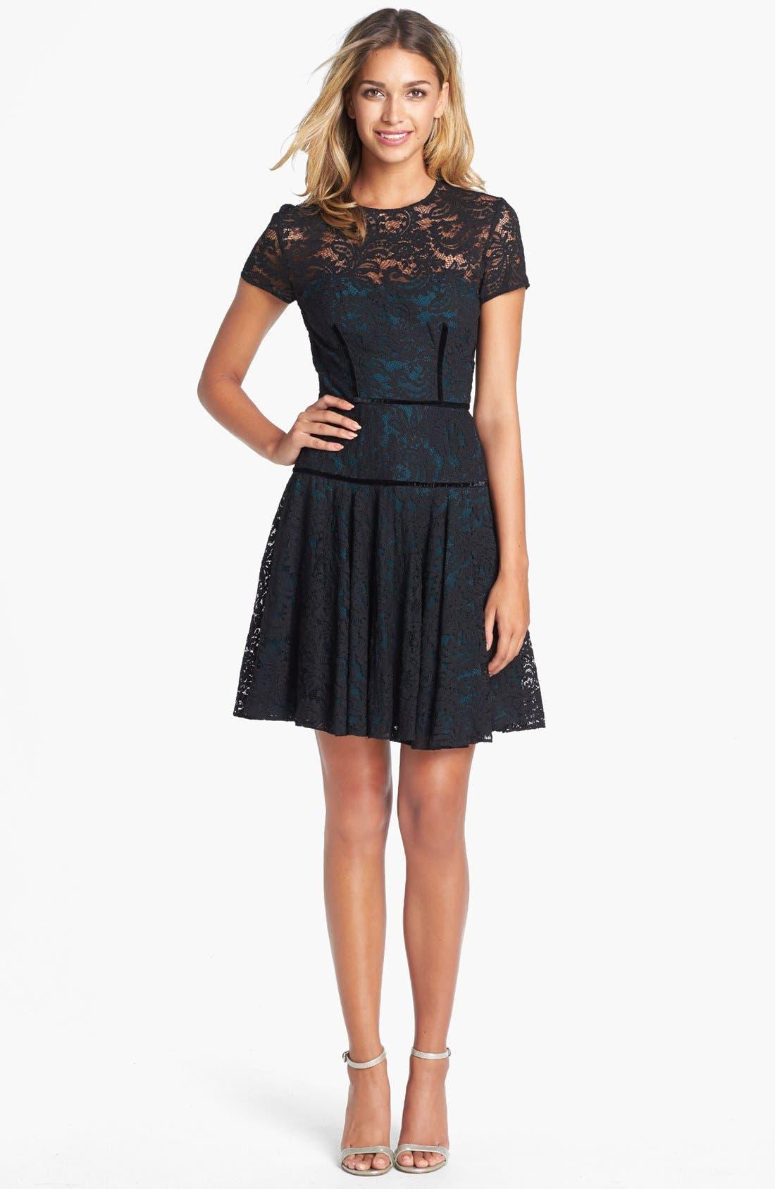 Main Image - Jill Jill Stuart Lace Fit & Flare Dress