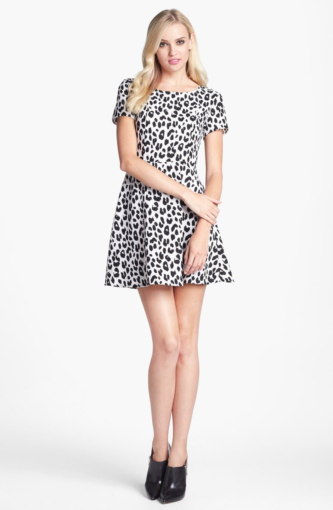 Alternate Image 1 Selected - Collective Concepts Print Fit & Flare Dress