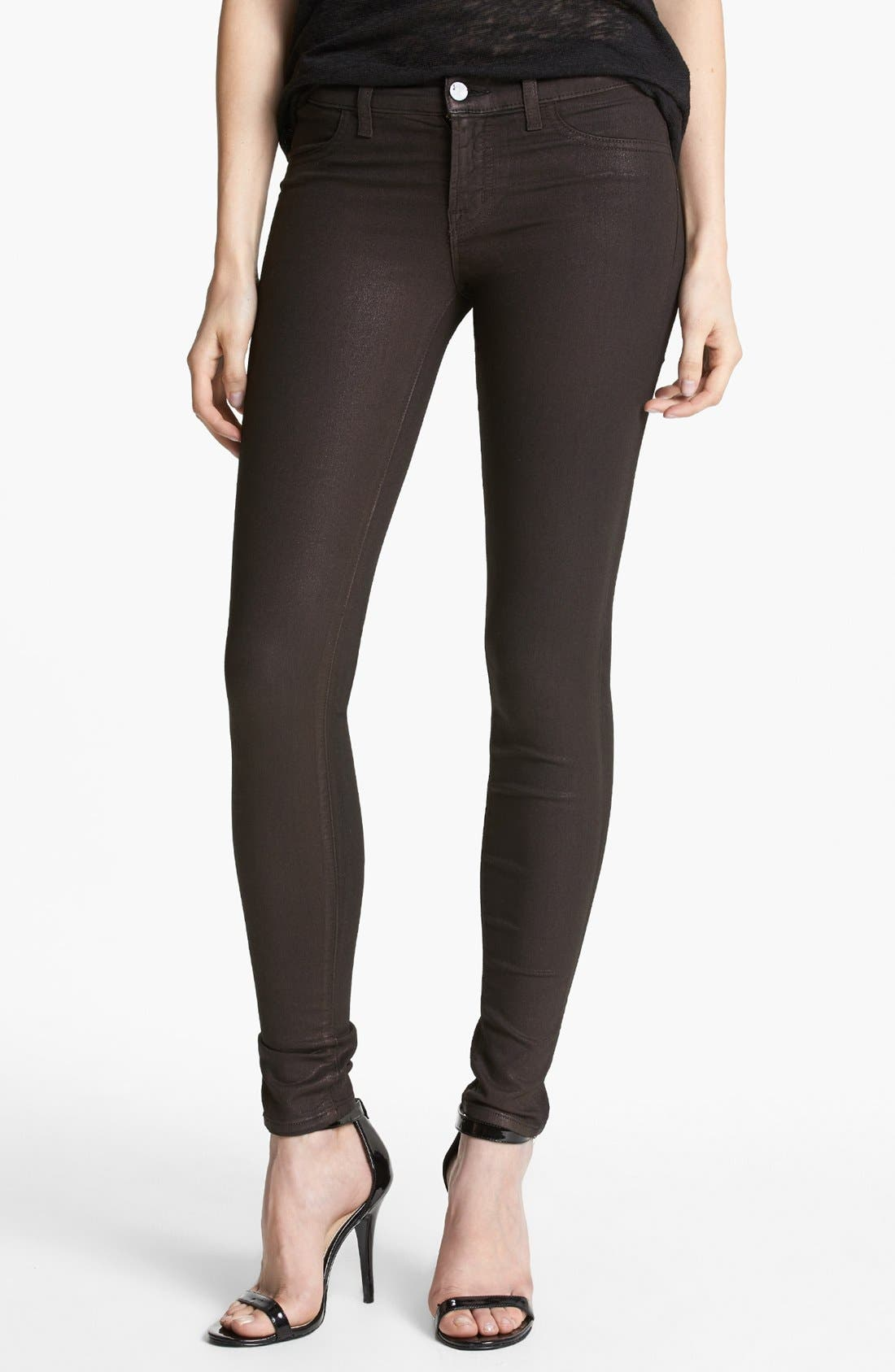 Alternate Image 1 Selected - J Brand '815' Coated Skinny Pants