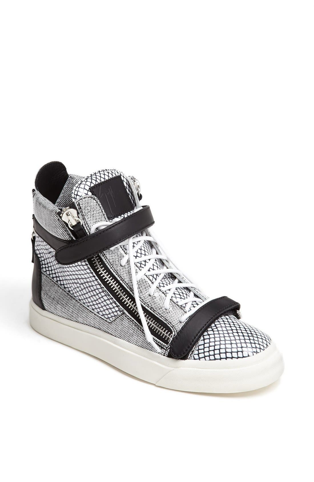 Alternate Image 1 Selected - Giuseppe Zanotti High Top Sneaker