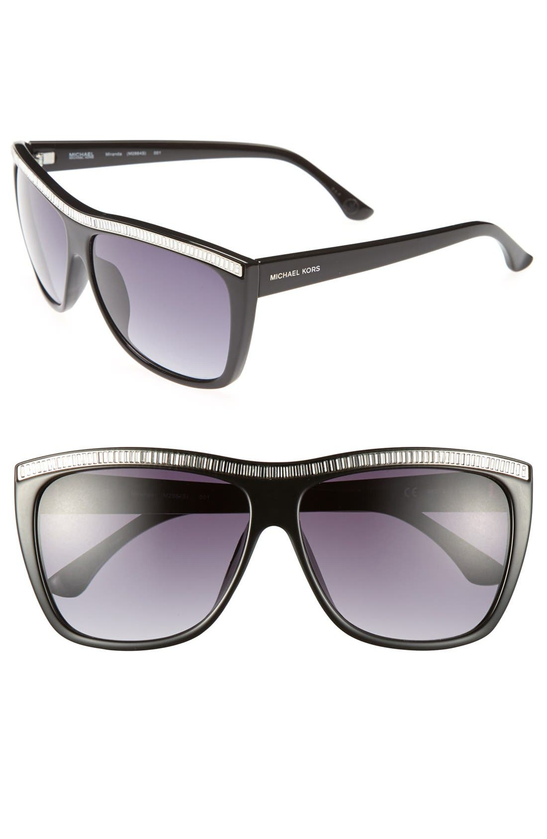 Alternate Image 1 Selected - MICHAEL Michael Kors 'Miranda' 59mm Sunglasses