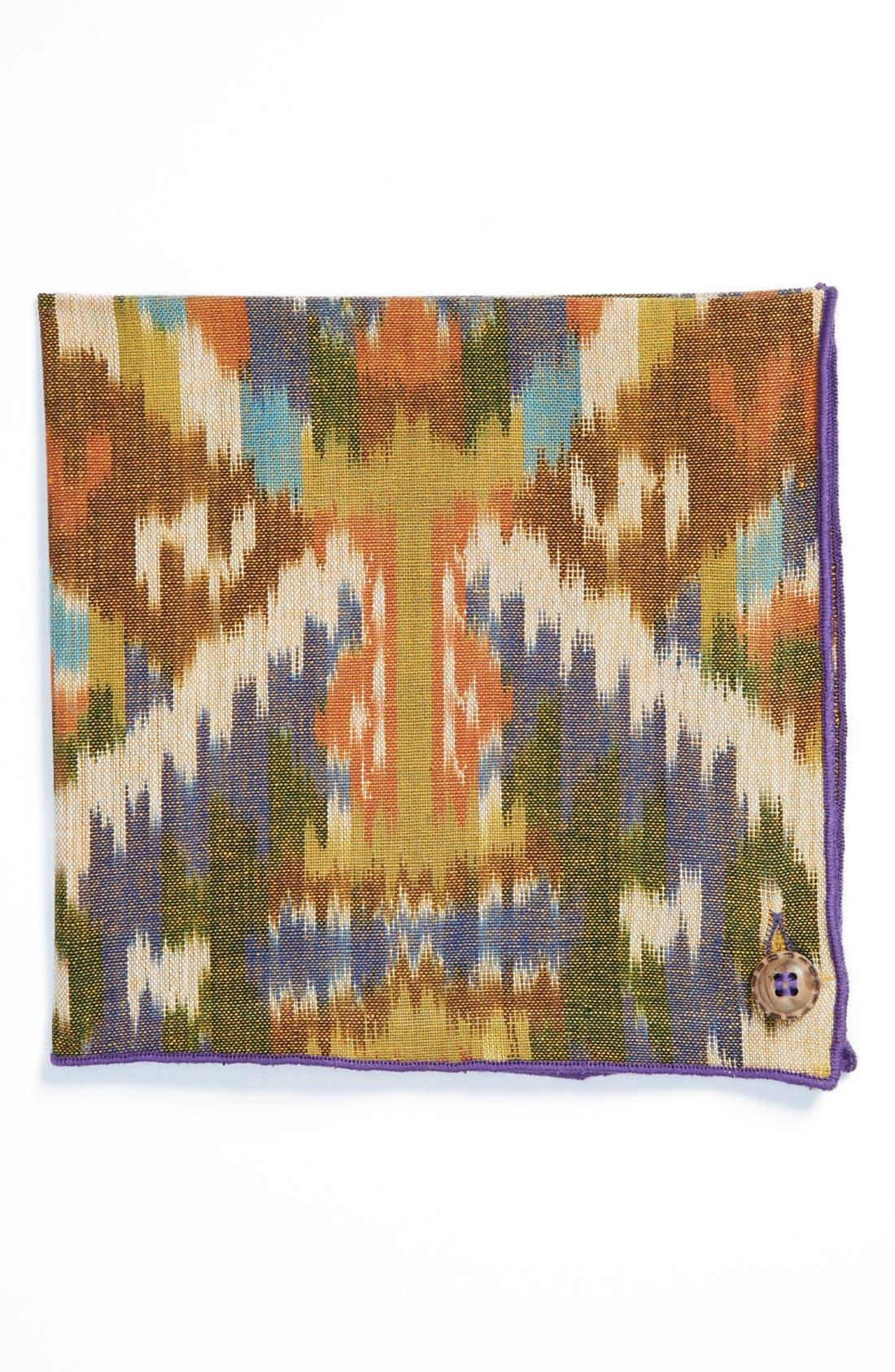 Cotton Pocket Square,                         Main,                         color, Purple