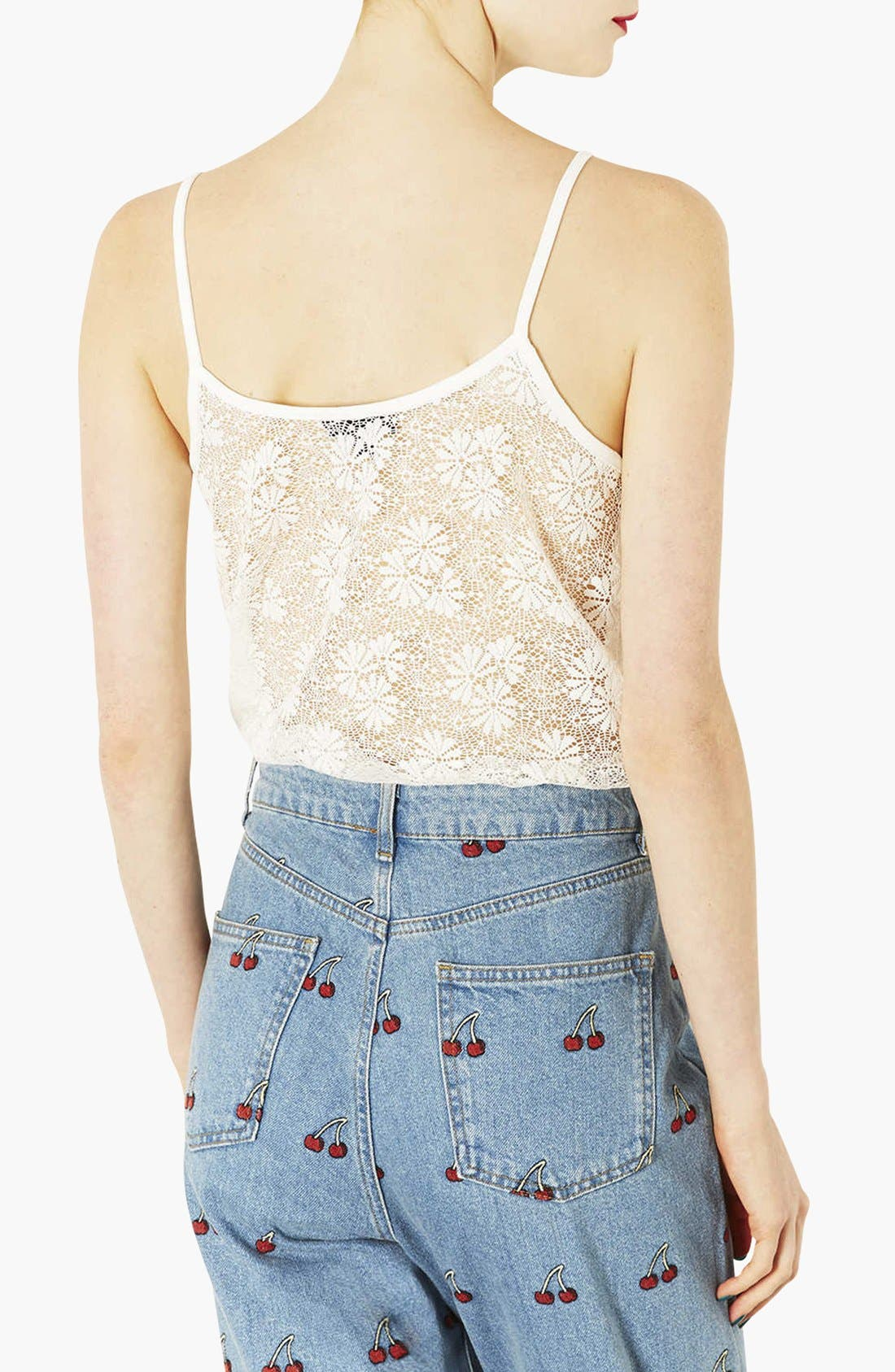 Alternate Image 2  - Topshop Scallop Lace Camisole