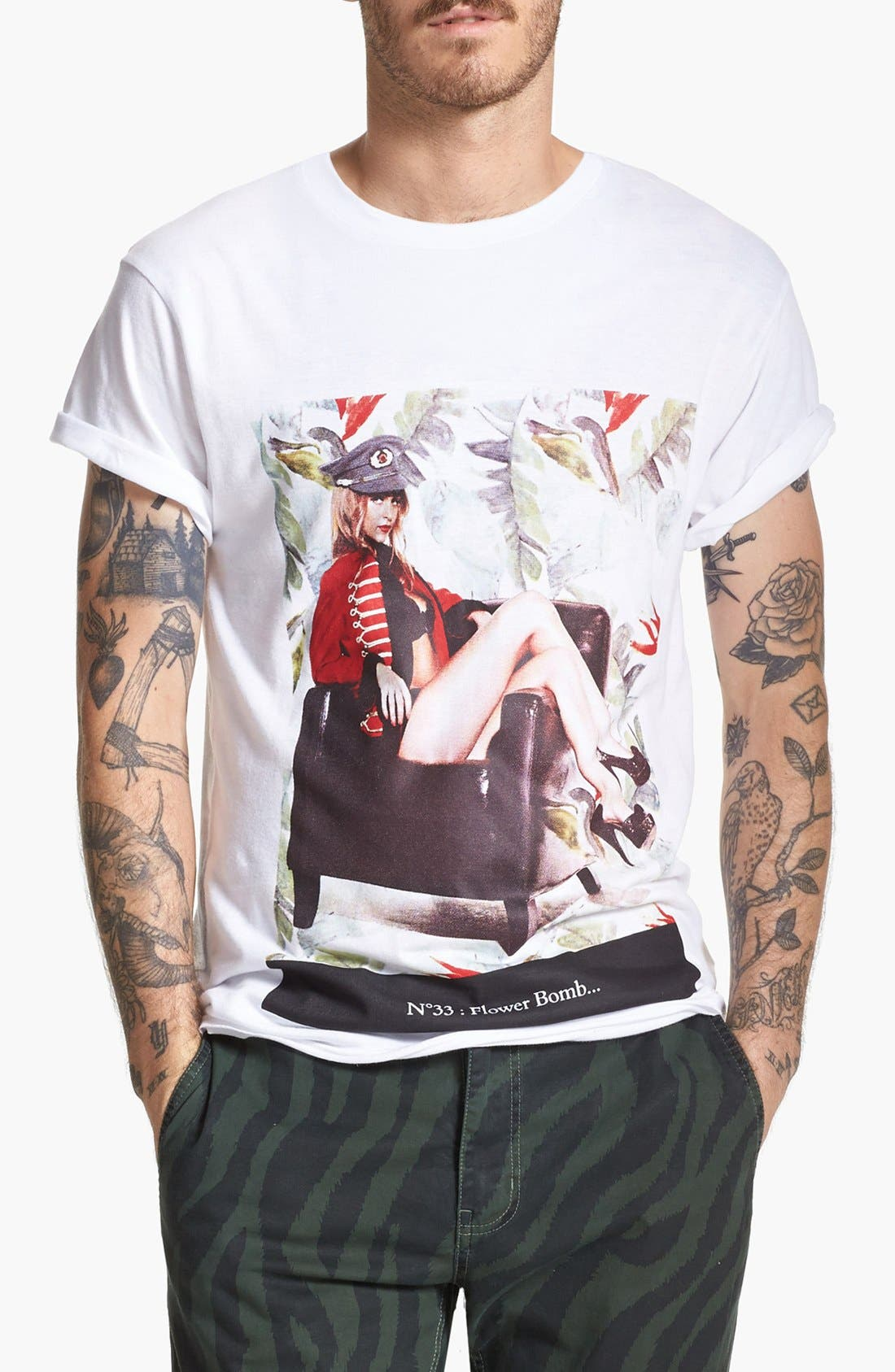 Alternate Image 1 Selected - ELEVENPARIS 'N33 Flower Bomb' T-Shirt