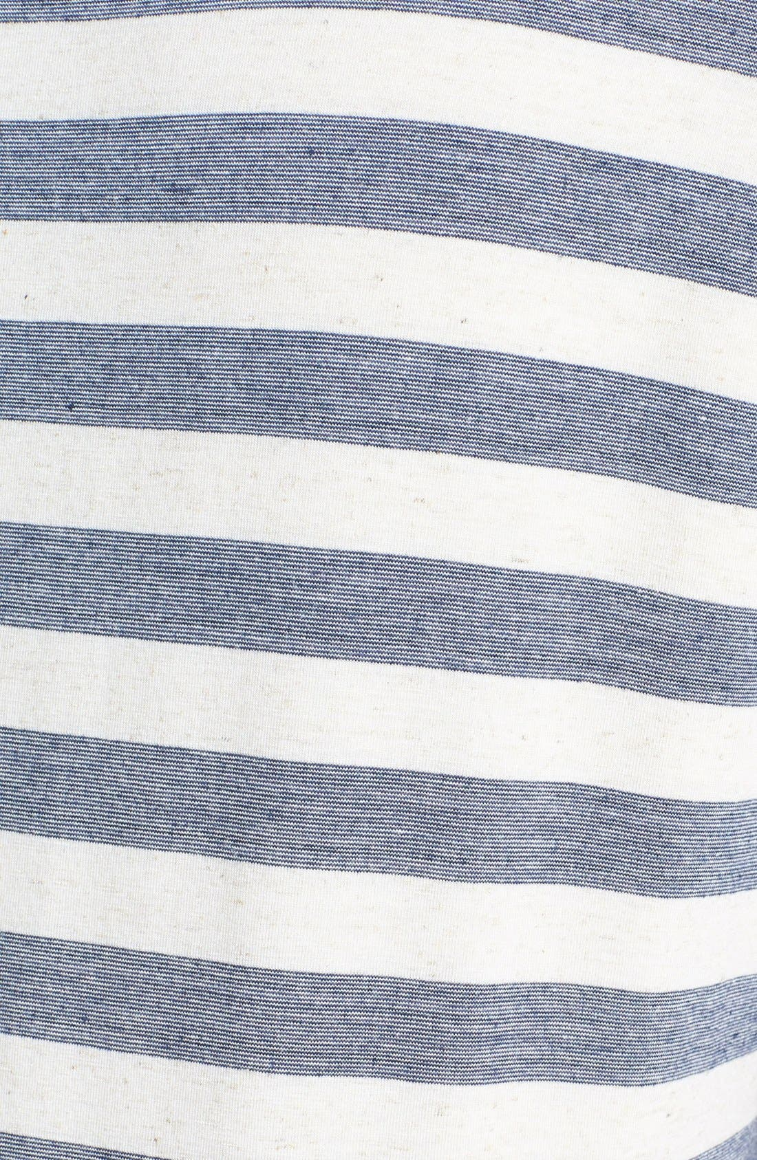Alternate Image 3  - Lucky Brand 'Dallas' Stripe Top (Plus Size)