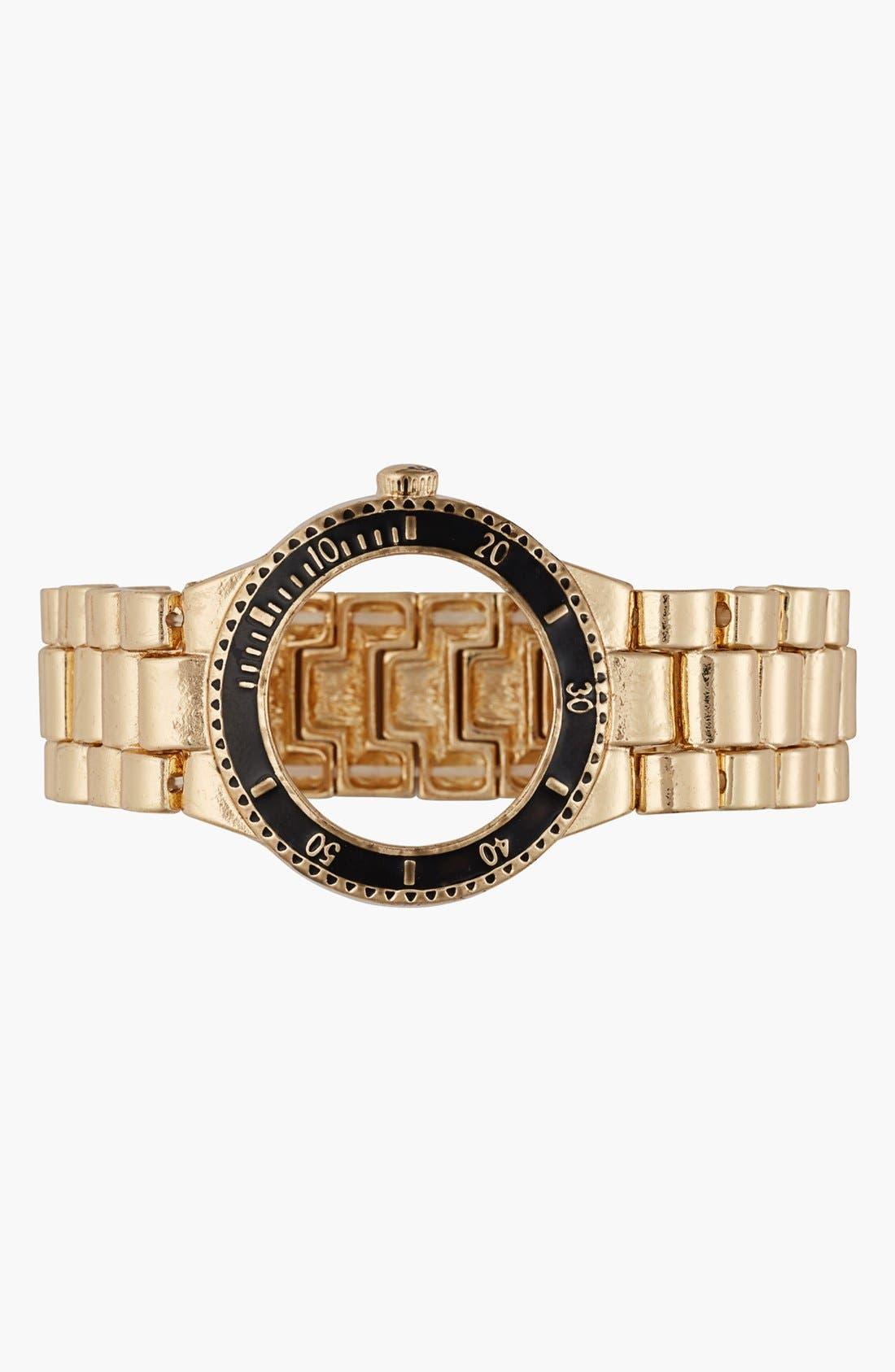 Main Image - Cara Couture Wristwatch Stretch Bracelet