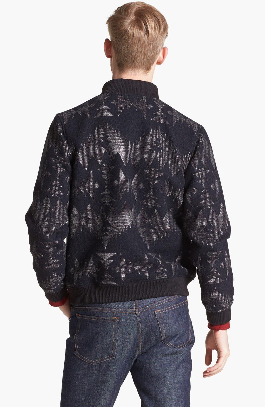 Alternate Image 2  - Pendleton Portland Collection 'Franklin' Wool & Cotton Varsity Jacket