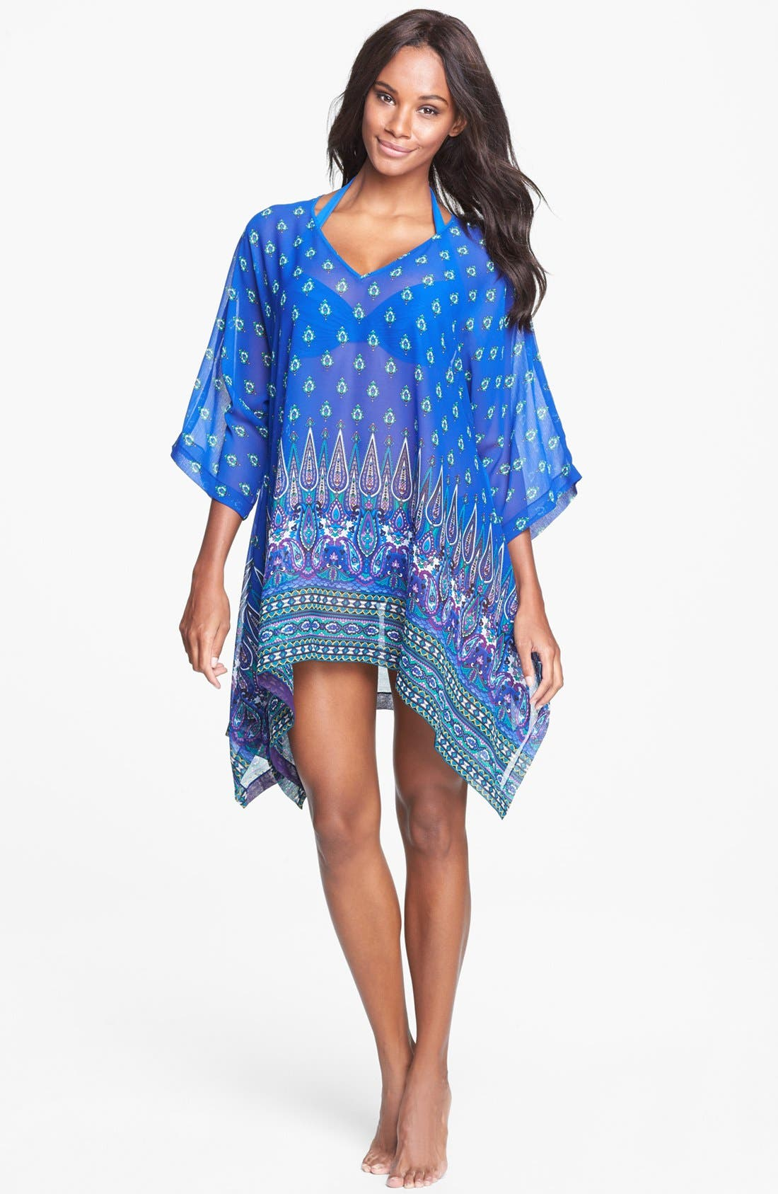 Alternate Image 1 Selected - Tommy Bahama 'Foulard Frenzy' Cover-Up Tunic