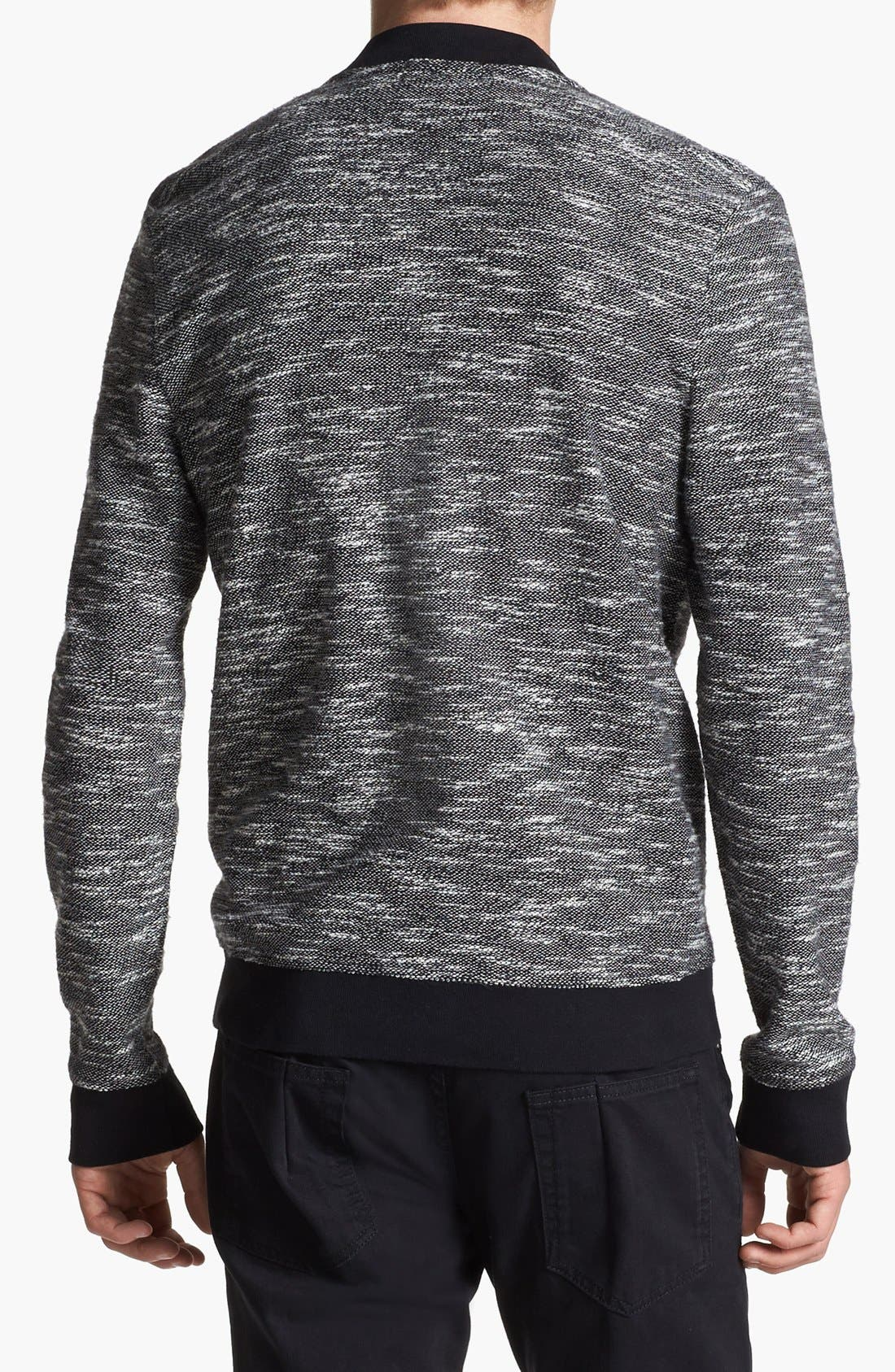 Alternate Image 2  - Topman Knit Bomber Jacket