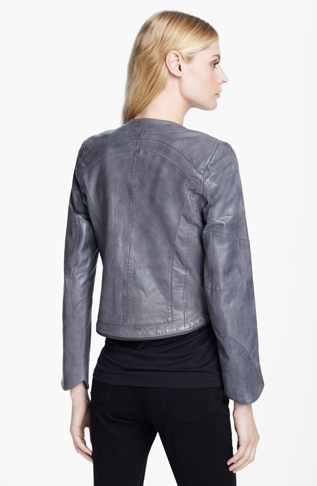 Alternate Image 2  - Zadig & Voltaire 'Venci' Crop Leather Jacket