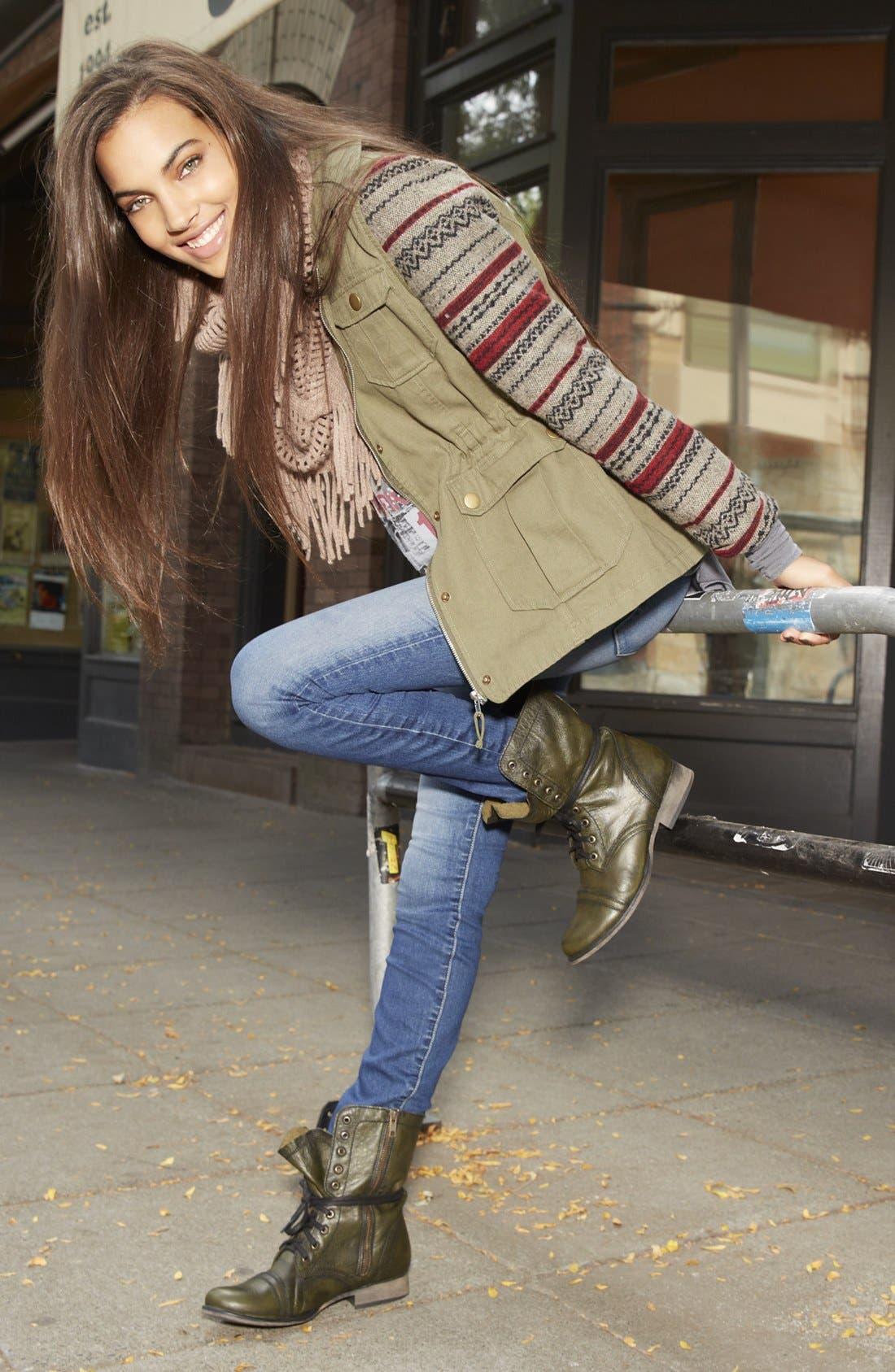 Alternate Image 4  - Jack Knit Sleeve Jacket (Juniors)