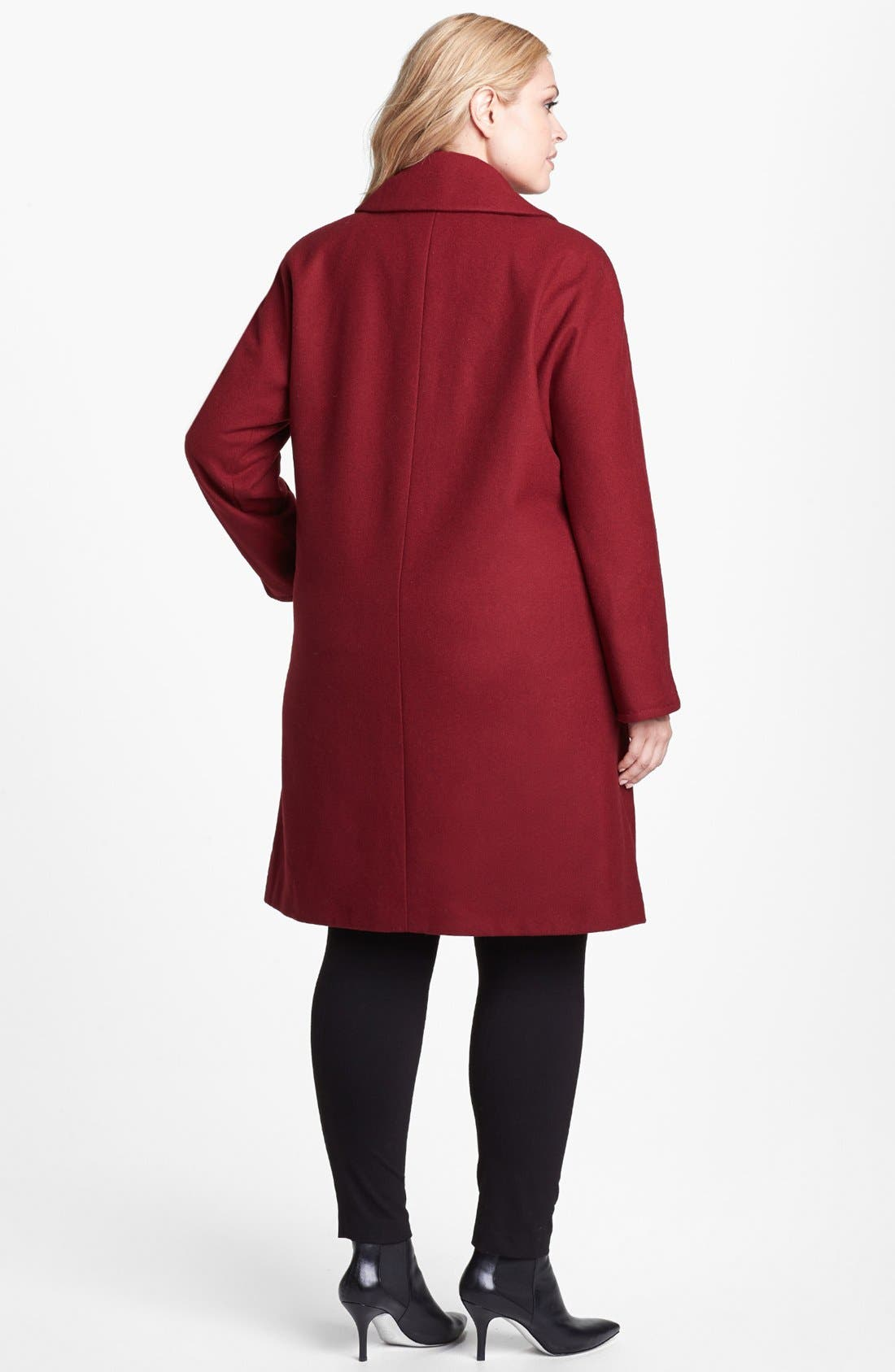 Alternate Image 2  - Ellen Tracy 'Clutch' Coat (Plus Size)