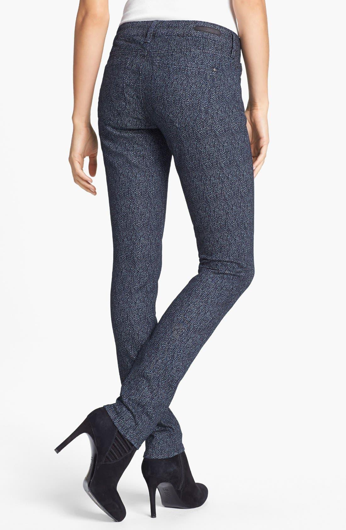 Alternate Image 2  - Mavi Jeans 'Alexa' Print Skinny Jeans (Indigo Geometric)