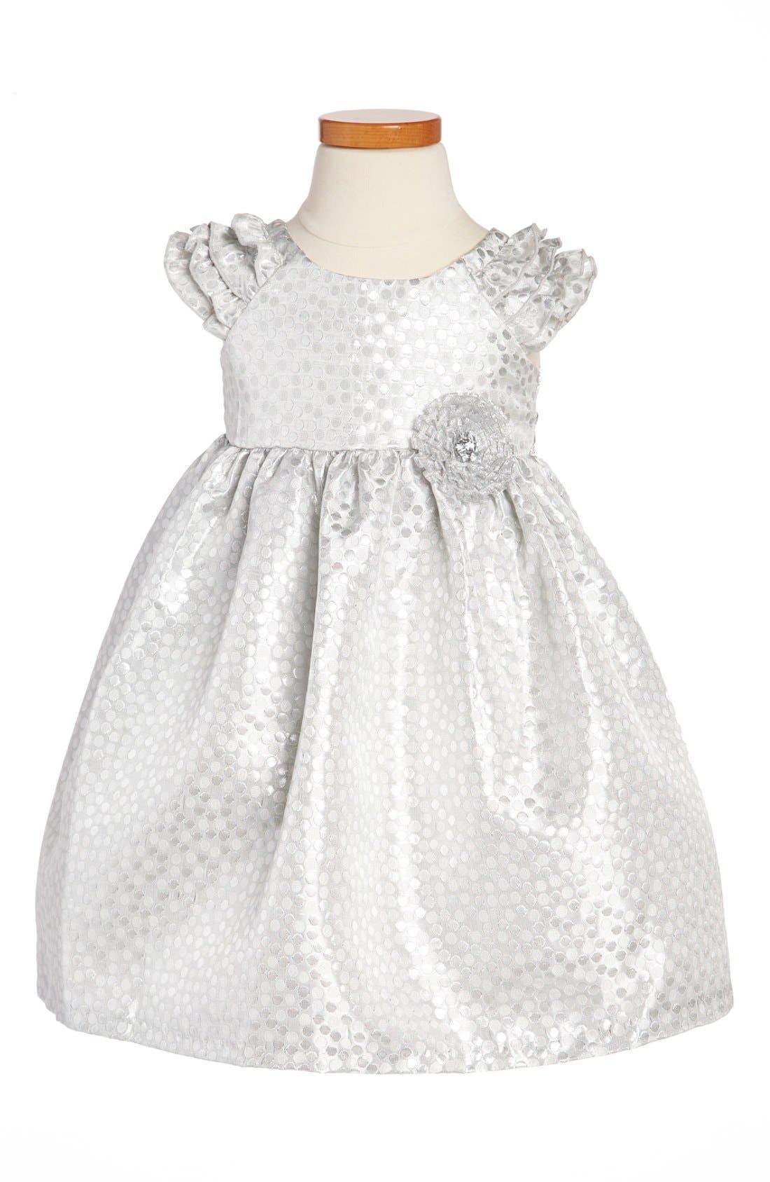 Alternate Image 1 Selected - Laura Ashley Brocade Dress (Toddler Girls)