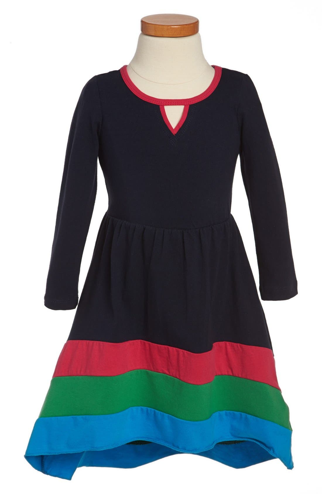 Alternate Image 1 Selected - Ella and Lulu Colorblock Dress (Toddler Girls)