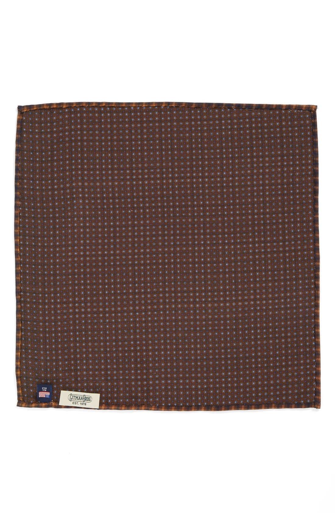 Alternate Image 3  - Gitman Plaid Silk Pocket Square