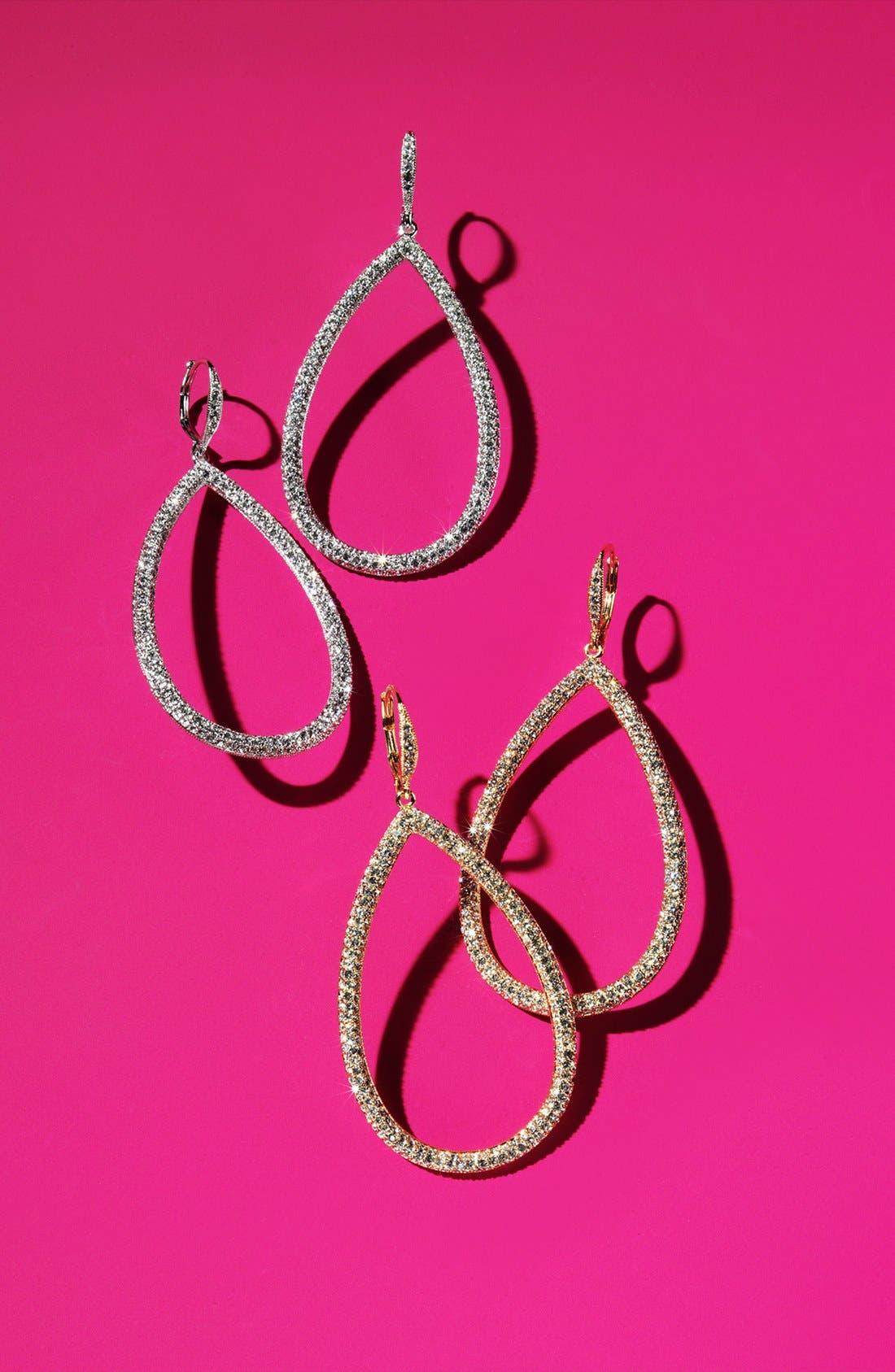 Alternate Image 3  - Nadri Pavé Open Teardrop Earrings