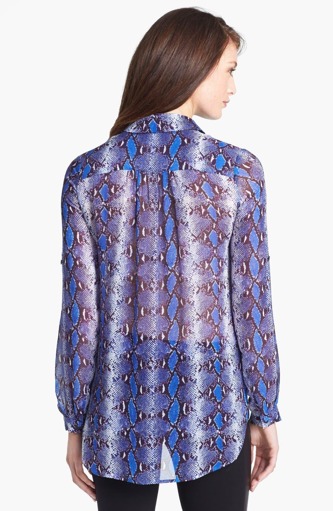 Alternate Image 2  - Diane von Furstenberg 'Lorelei' Print Silk Shirt