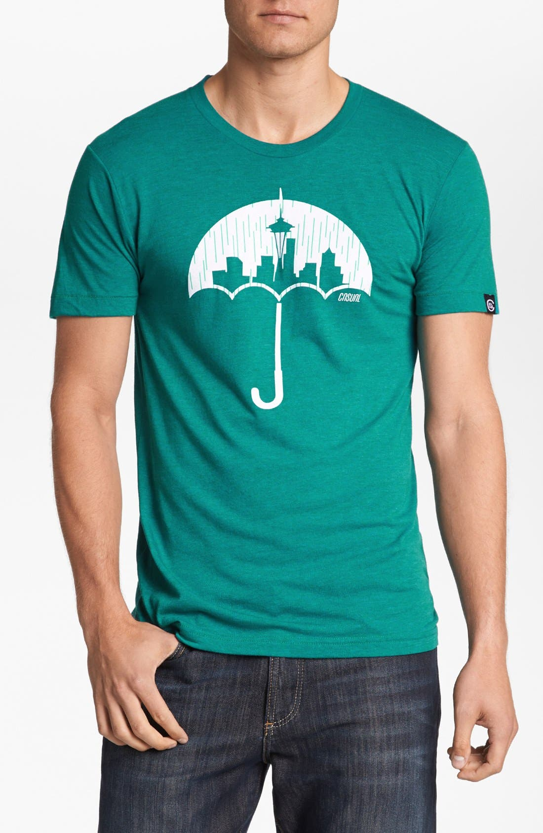 Alternate Image 1 Selected - Casual Industrees 'Umbrella Rain' Graphic T-Shirt