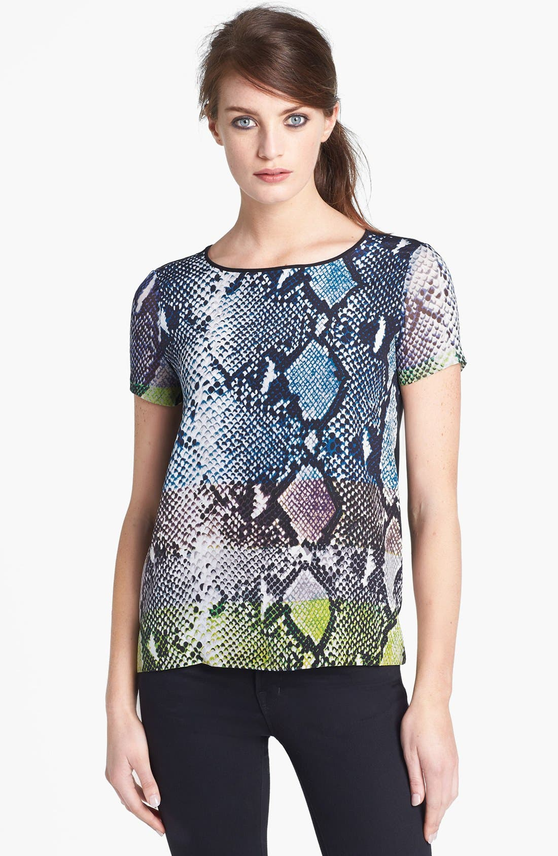 Alternate Image 1 Selected - Diane von Furstenberg 'Ora' Animal Print Tee
