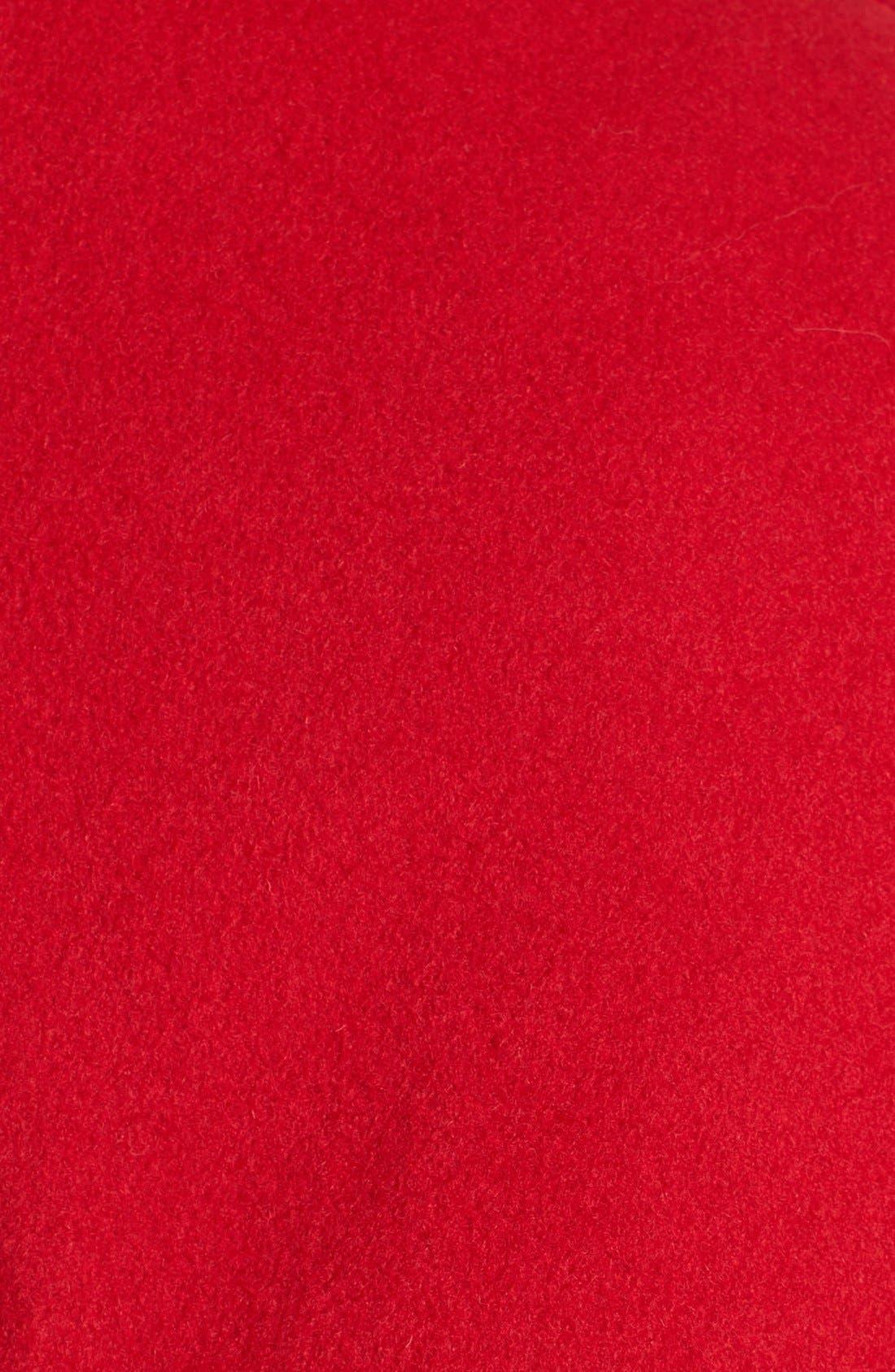 Alternate Image 3  - Ellen Tracy Double Breasted Wool Blend Peacoat