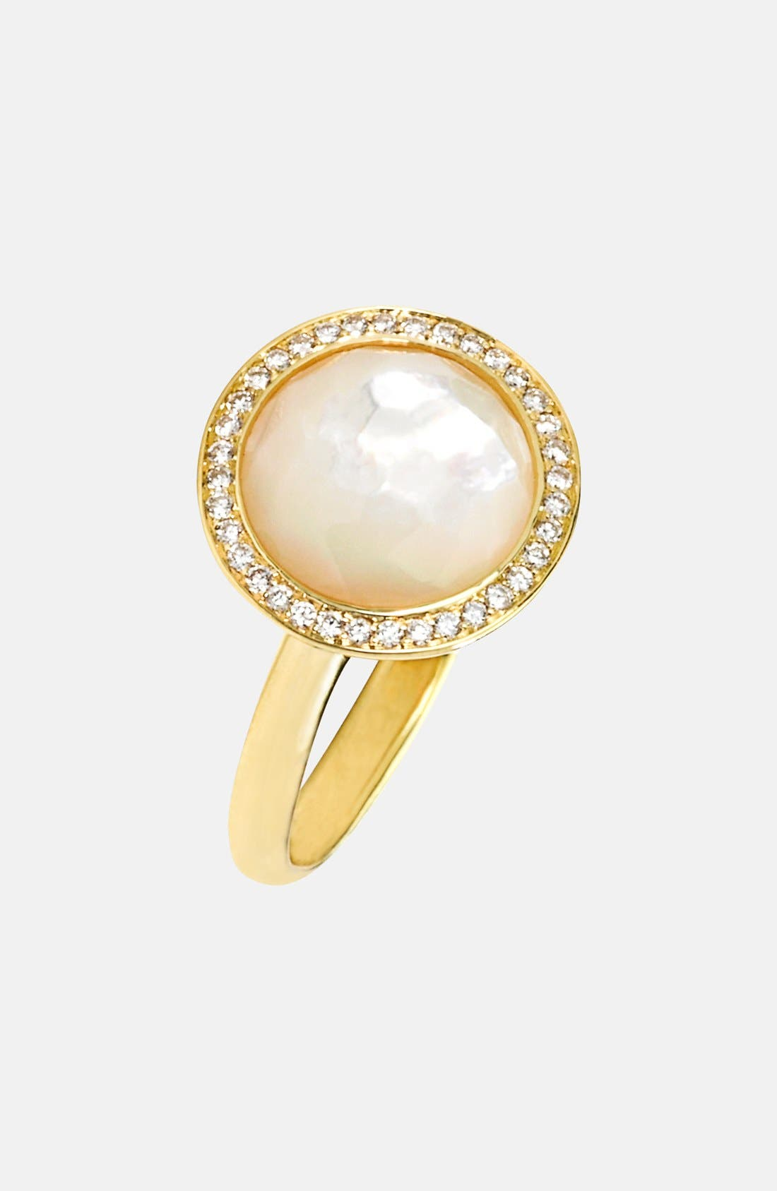 Alternate Image 1 Selected - Ippolita 'Rock Candy - Lollipop' 18k Gold Cocktail Ring with Diamonds